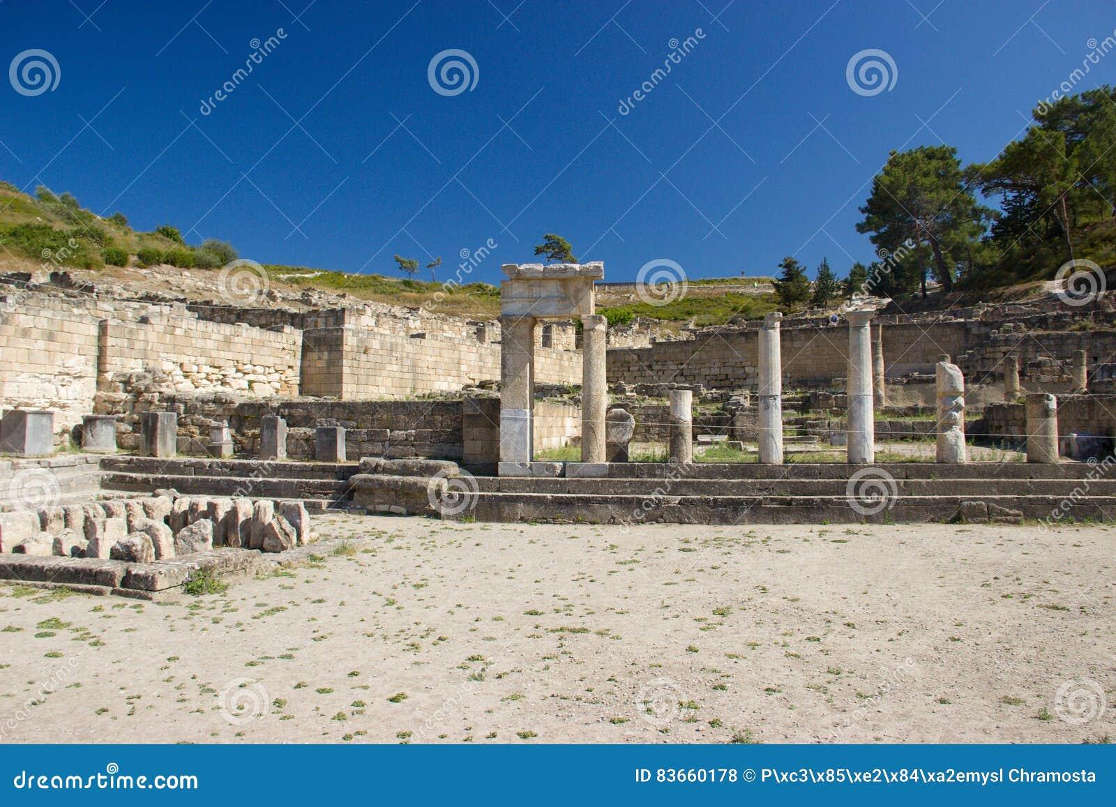 Αρχαία αρχιτεκτονική Kamiros Rhodos Ελλάδα ιστορική