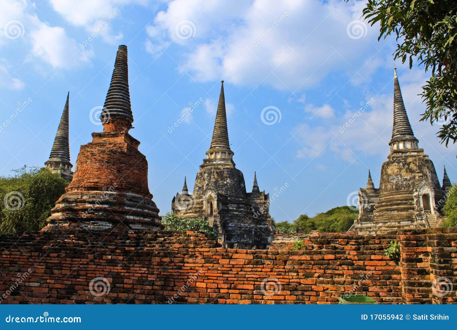 αρχαία παγόδα Ταϊλάνδη ayutthaya