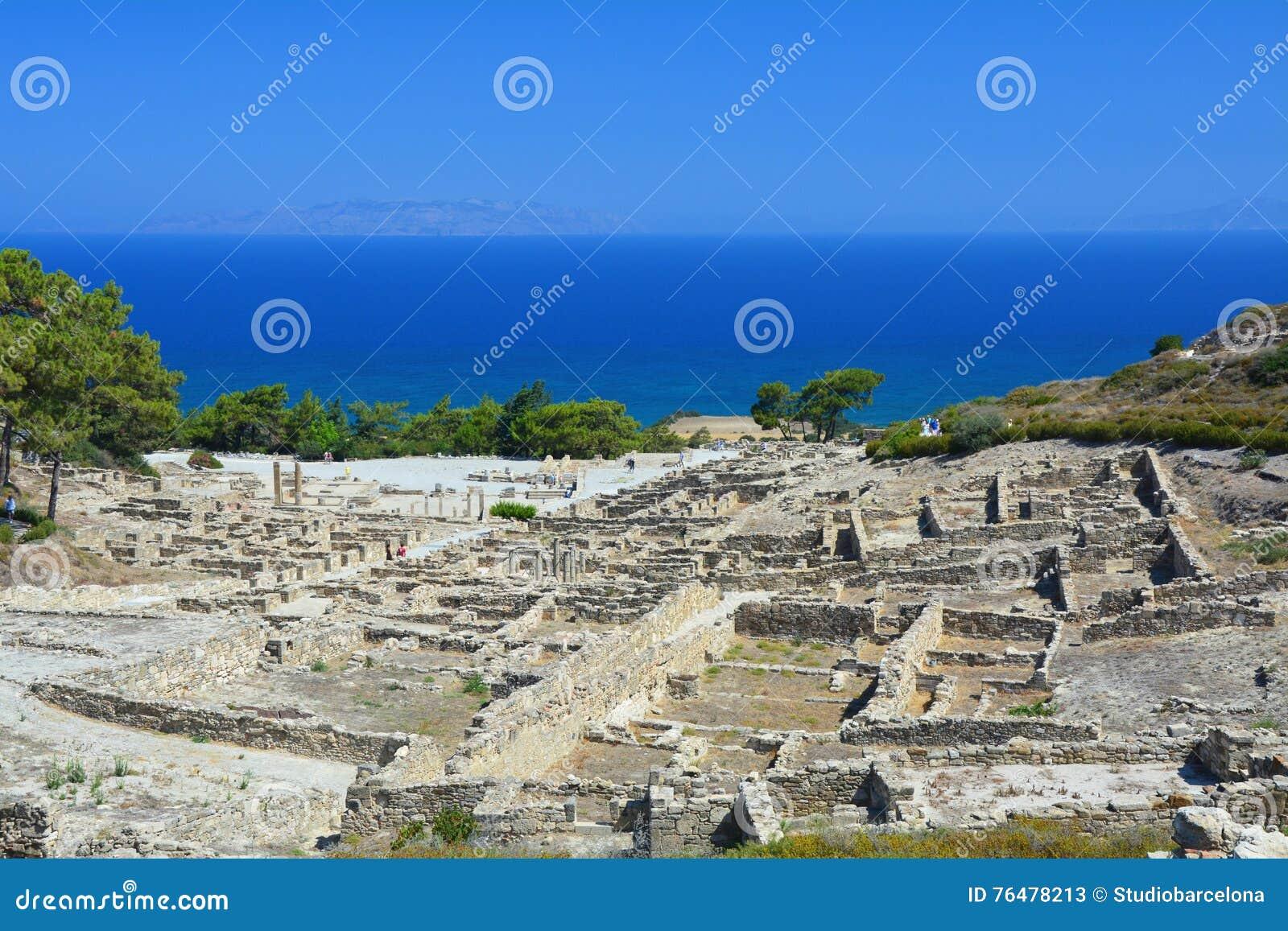 Αρχαία πόλη Kamiros στο νησί της Ρόδου