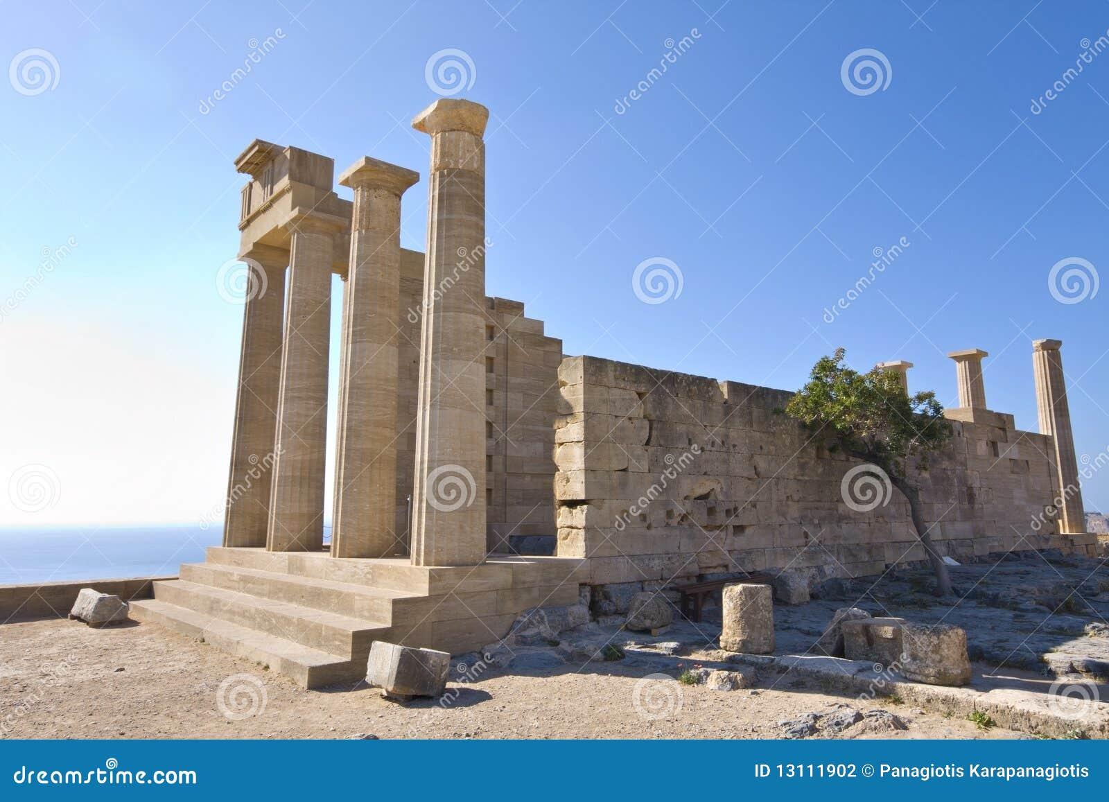 αρχαία Lindos Ρόδος περιοχής α&kap Στοκ Εικόνες - εικόνα από ...