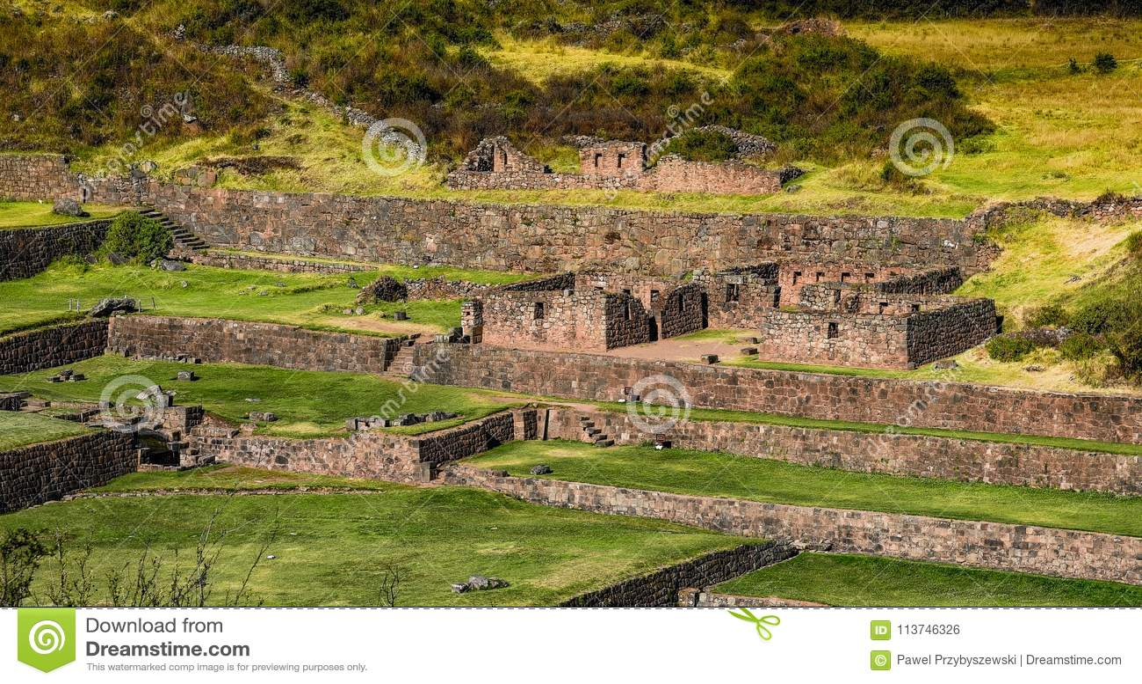 Αρχαίες καταστροφές Tipon σε Cusco Περού