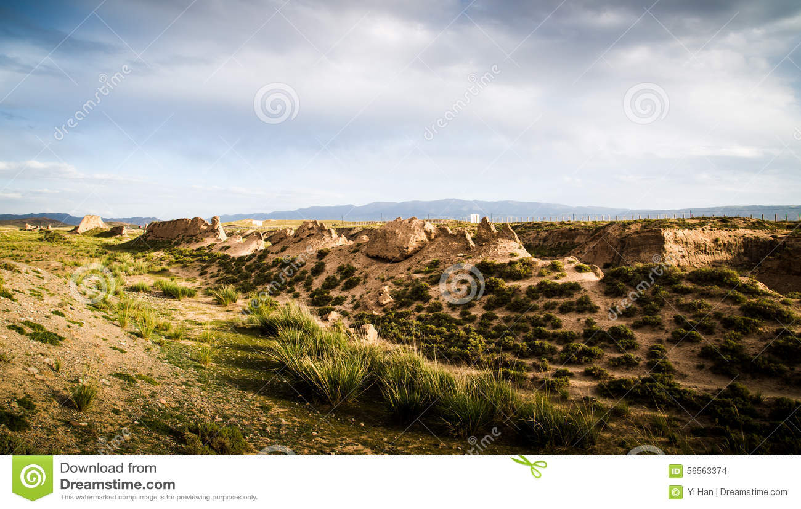 Download Αρχαίος το Σινικό Τείχος σε Gansu, Κίνα Στοκ Εικόνες - εικόνα από ιστορία, τουρισμός: 56563374