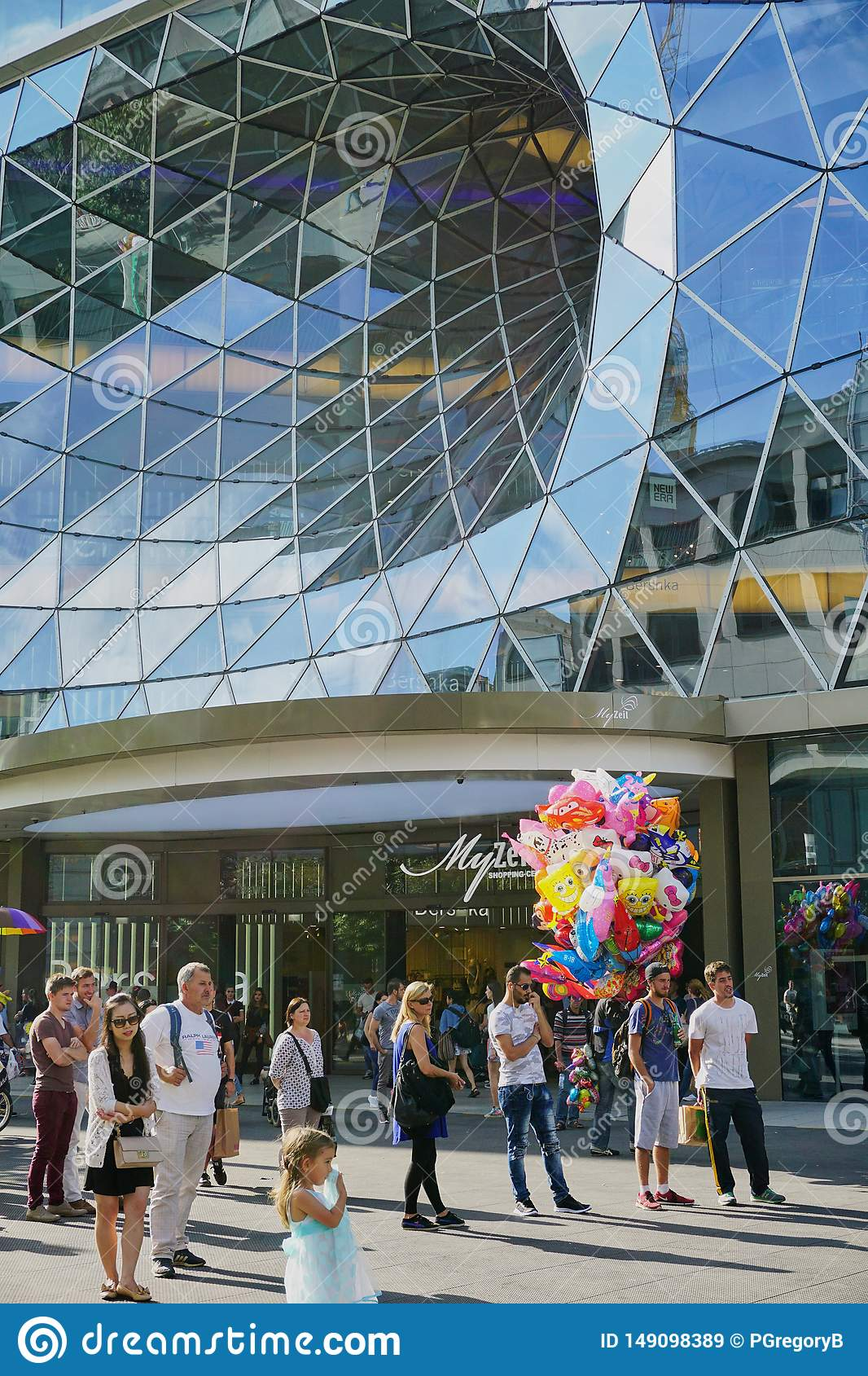 Αρχιτεκτονική δίνης γυαλιού στη Φρανκφούρτη Γερμανία