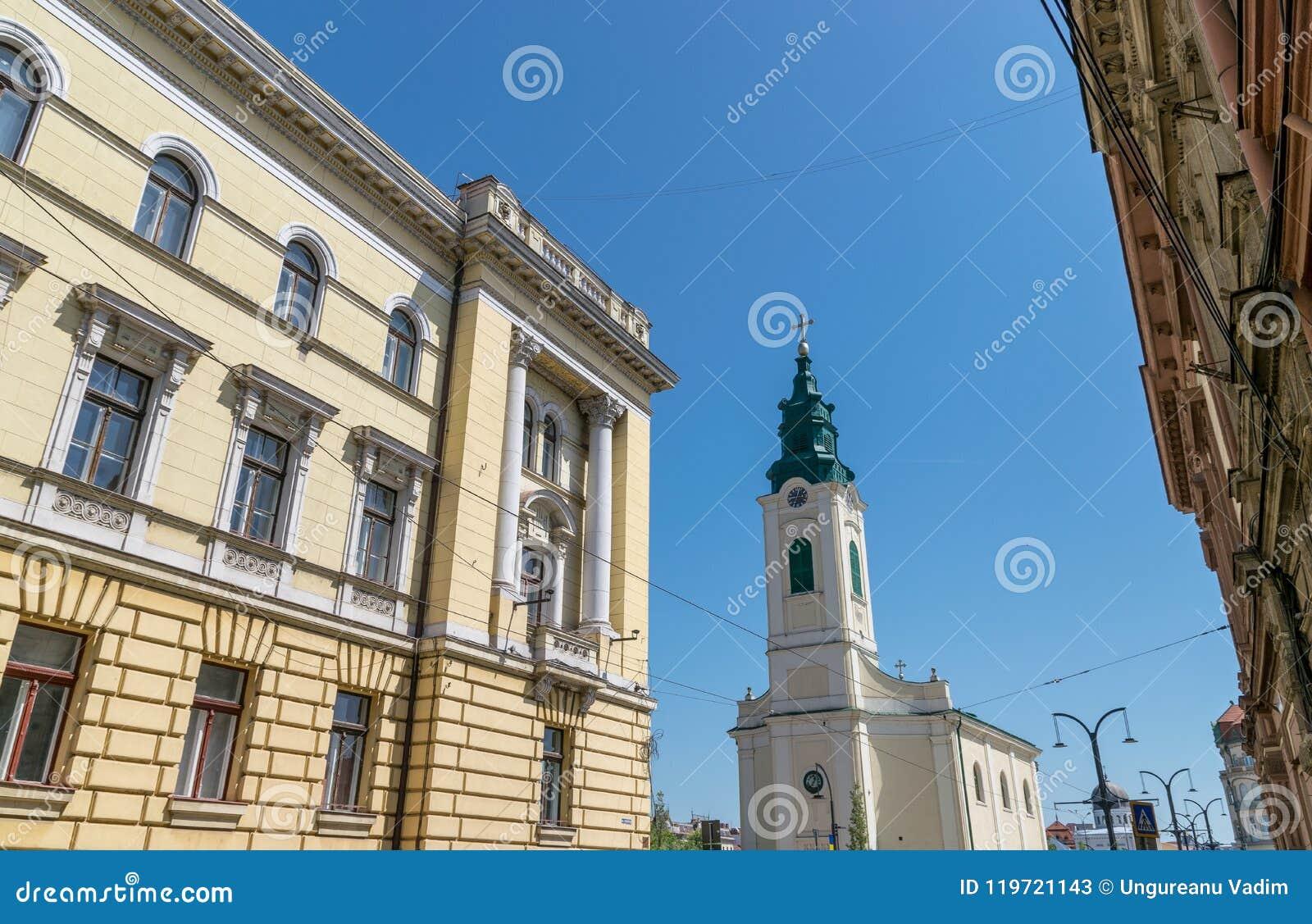 Αρχιτεκτονική κτηρίων σε Oradea, Ρουμανία, περιοχή Crisana