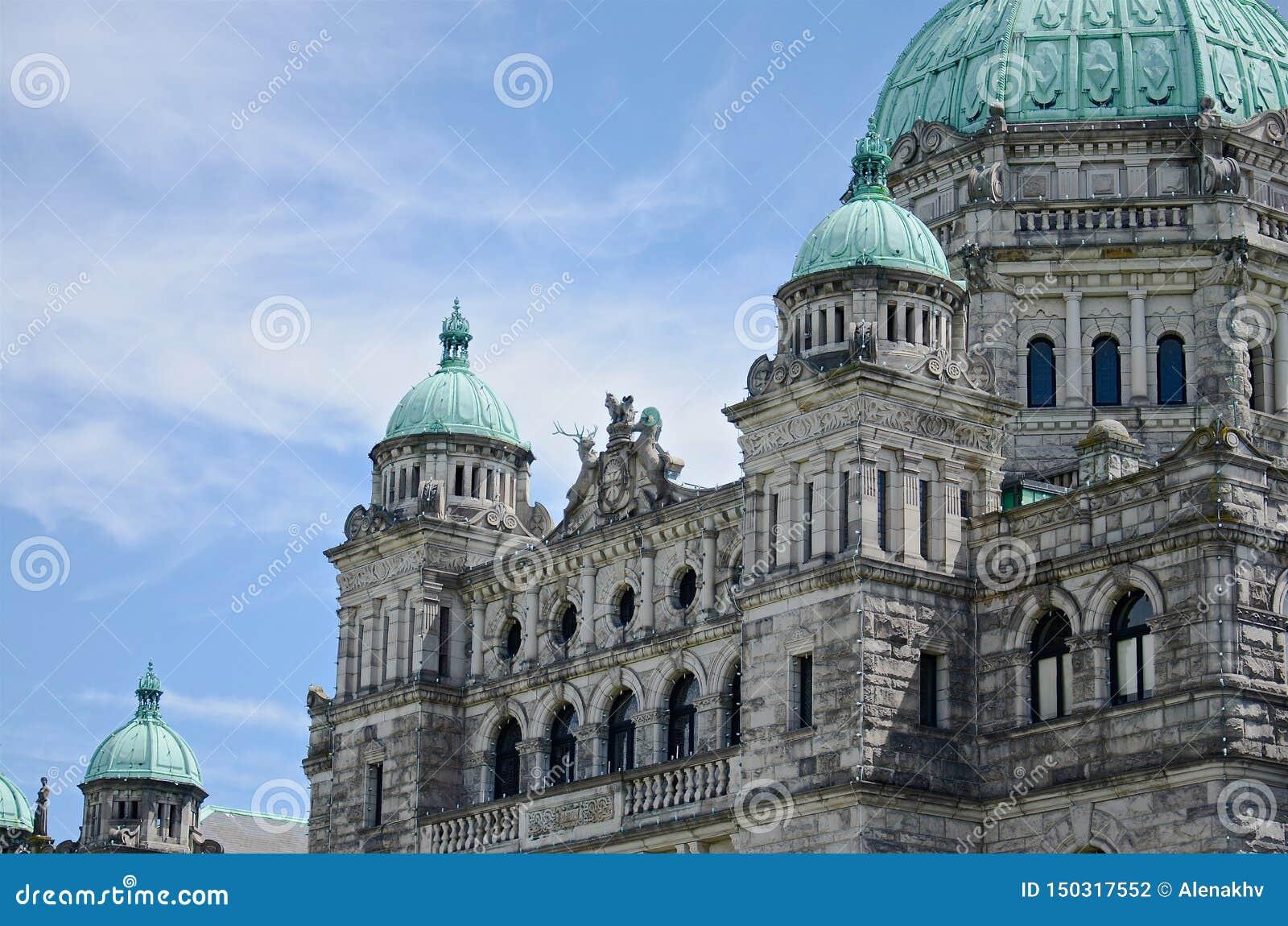 Αρχιτεκτονική οικοδόμησης του Κοινοβουλίου Βρετανικής Κολομβίας, Βικτώρια, Καναδάς