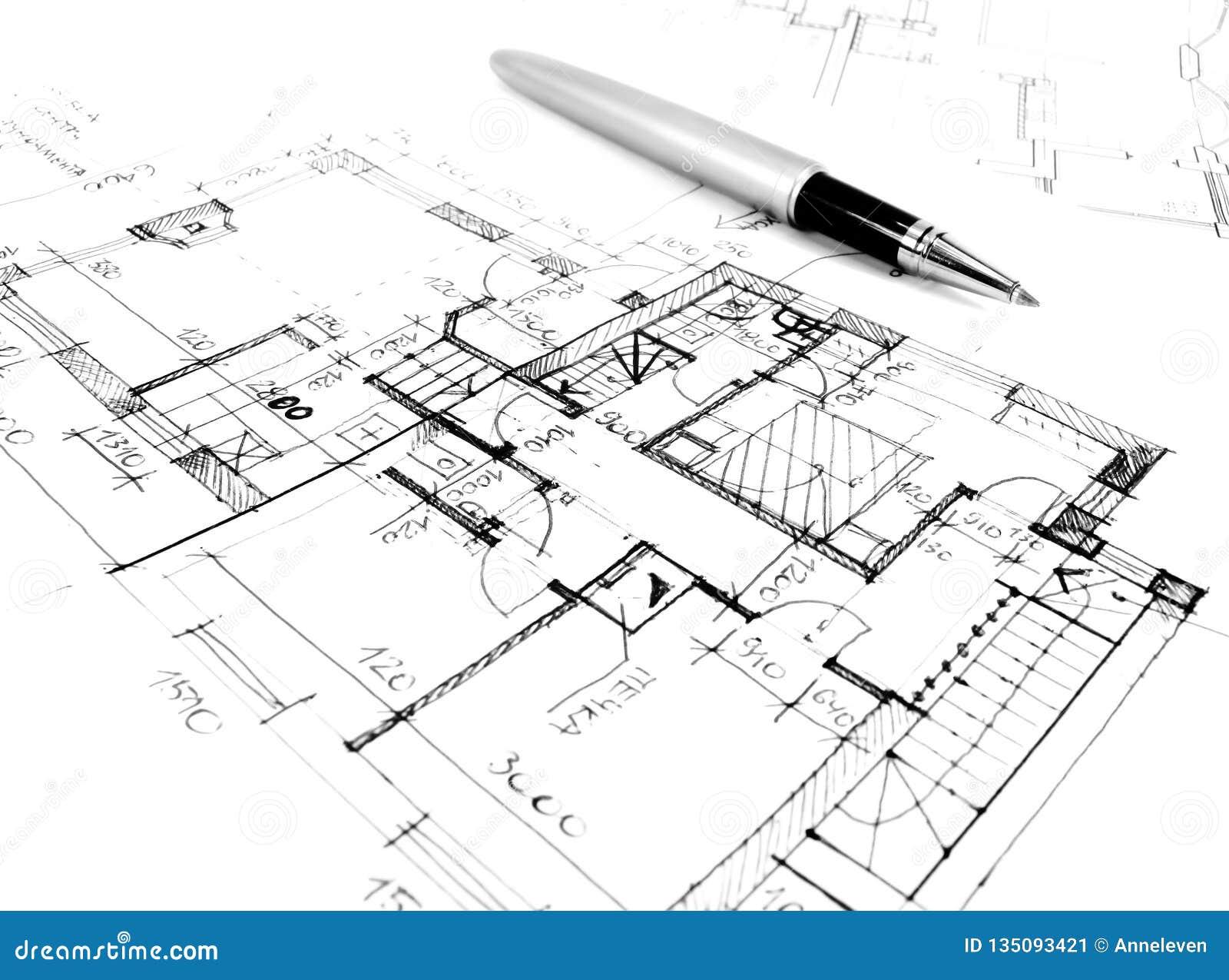 αρχιτεκτονικό σχέδιο σχεδίων του προγράμματος σπιτιών - αρχιτεκτονική, εφαρμοσμένη μηχανική και ορισμένη έννοια ακίνητων περιουσι