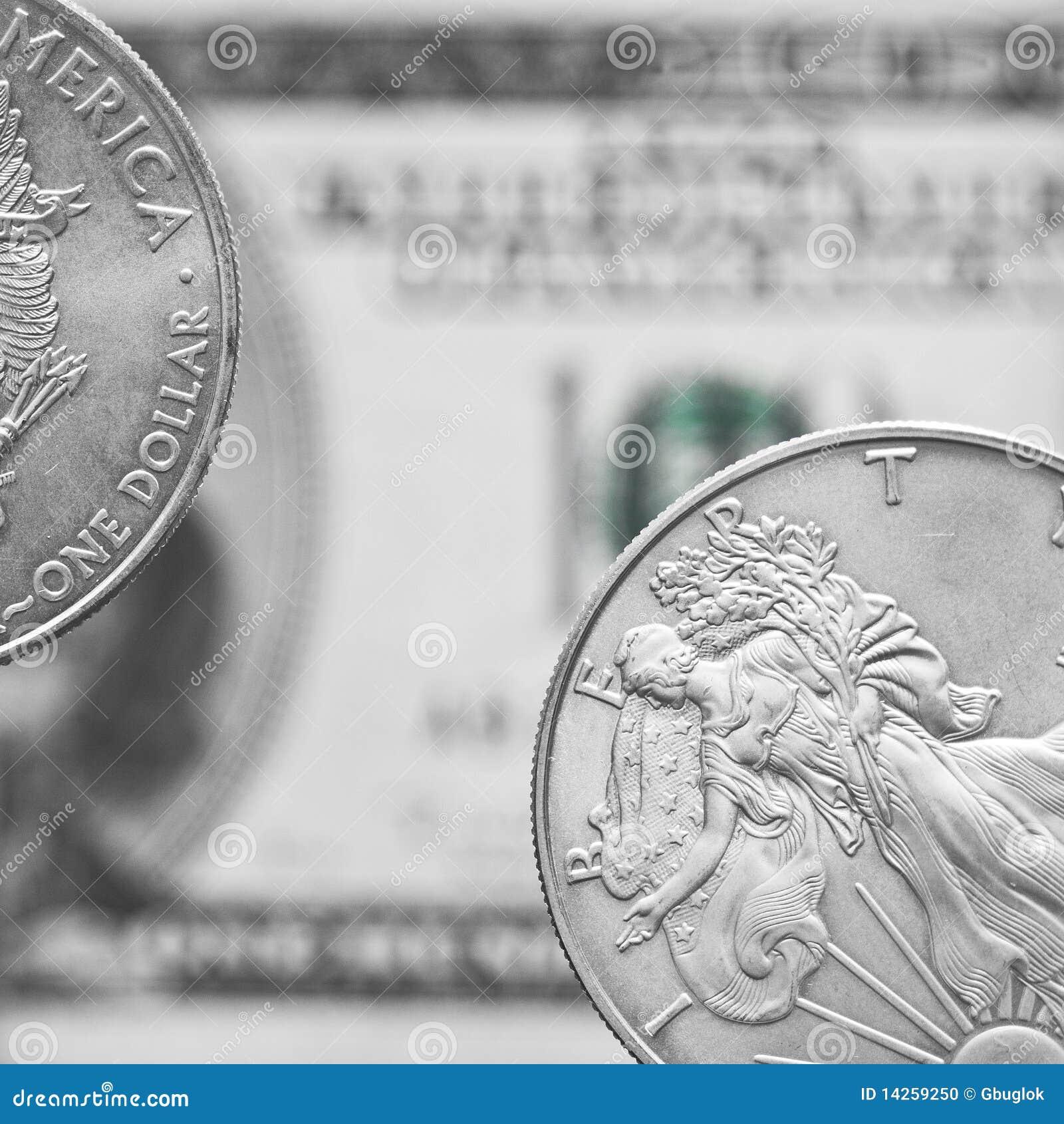 ασήμι δύο δολαρίων νομισμά&t
