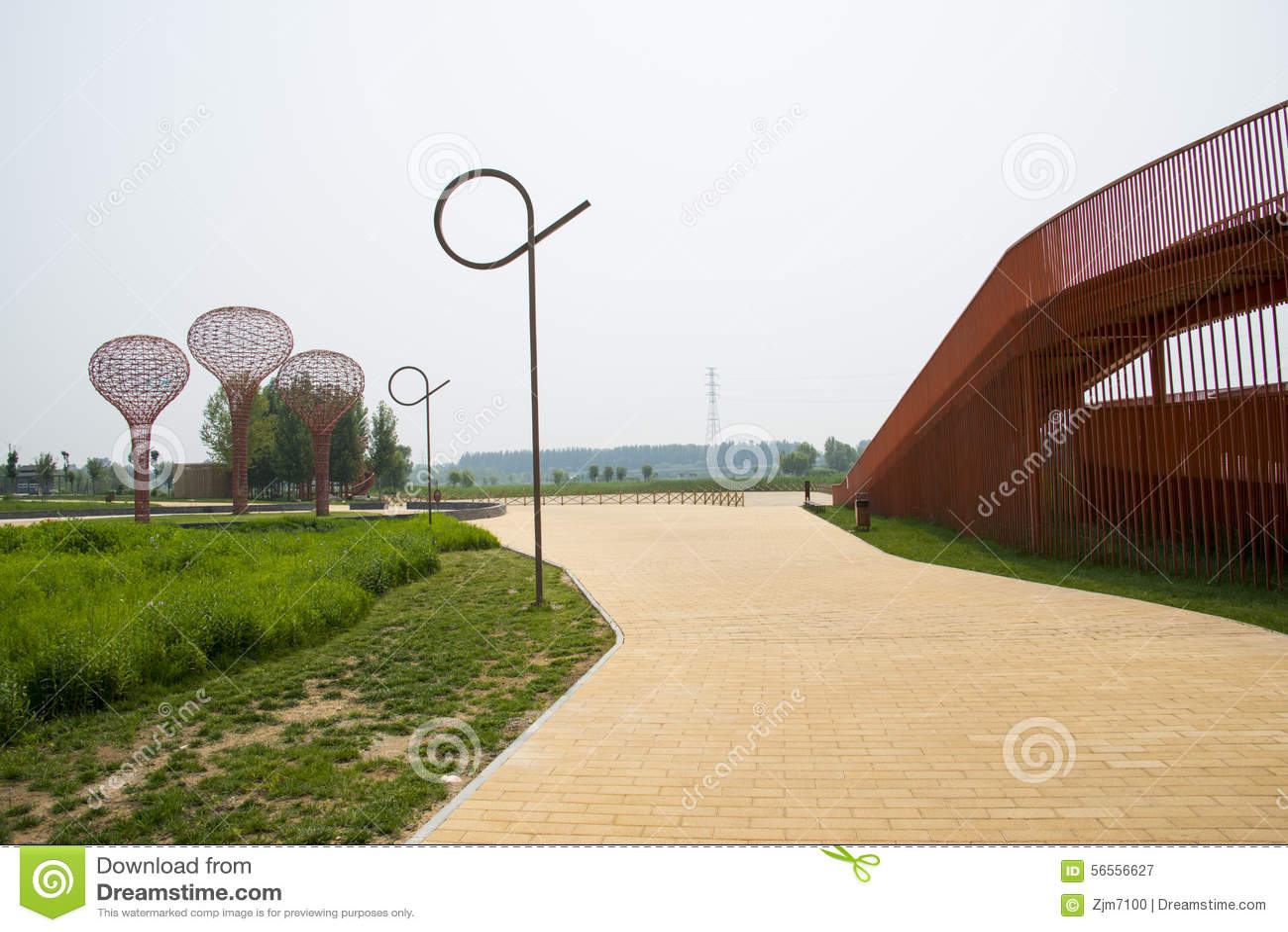 Download Ασία Κίνα, Πεκίνο, Yanqing, παγκόσμιο κρασί EXPO, σύγχρονο γλυπτό ŒLandscape Architectureï ¼, Εκδοτική Φωτογραφία - εικόνα από υπαίθριος, κόσμος: 56556627