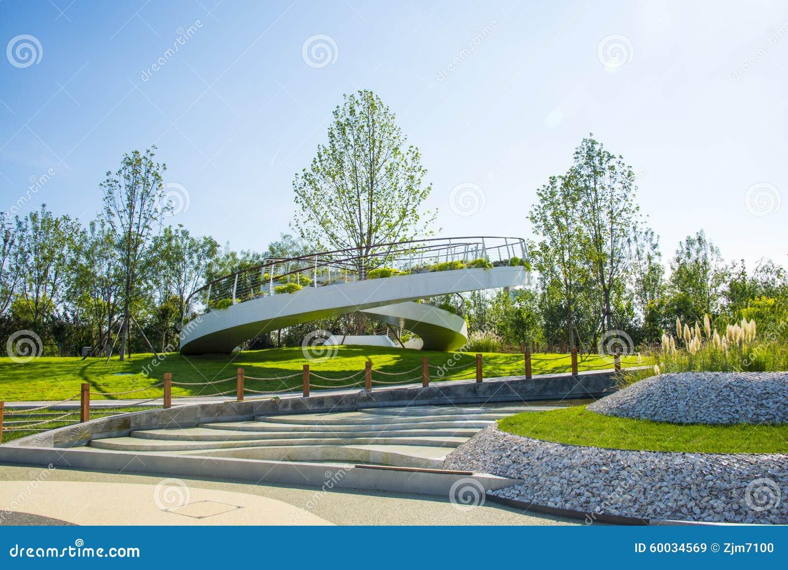 Ασία Κίνα, Wuqing Tianjin, πράσινο EXPO, κυκλική πλατφόρμα εξέτασης