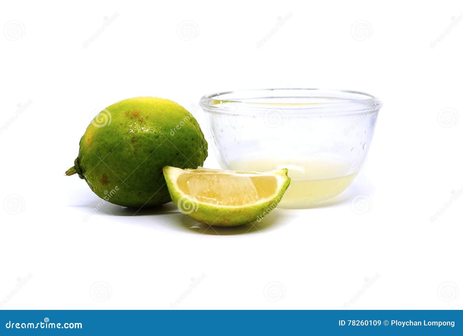 ασβέστης φρούτα με τις φέτες