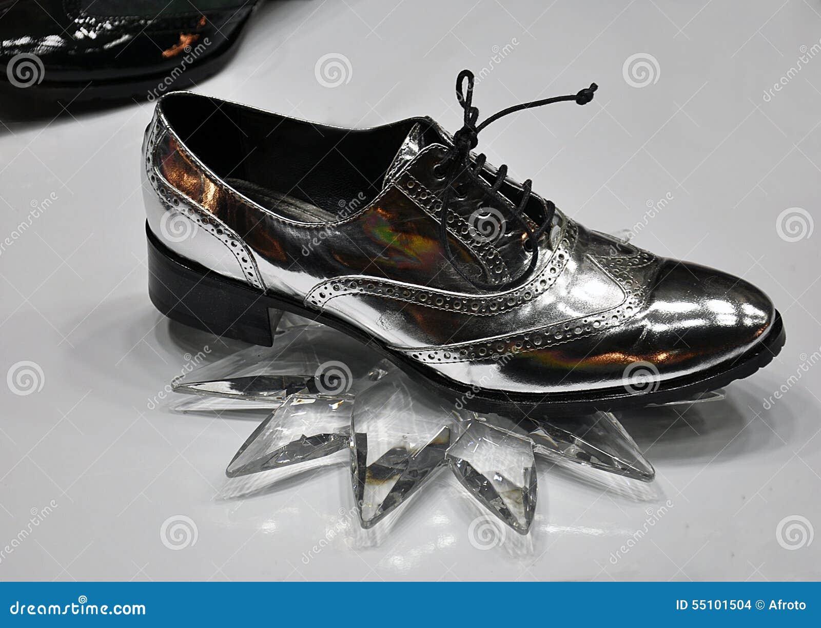 6998b639fdb Ασημένια γυναικεία παπούτσια Στοκ Εικόνες - εικόνα από άνετος ...