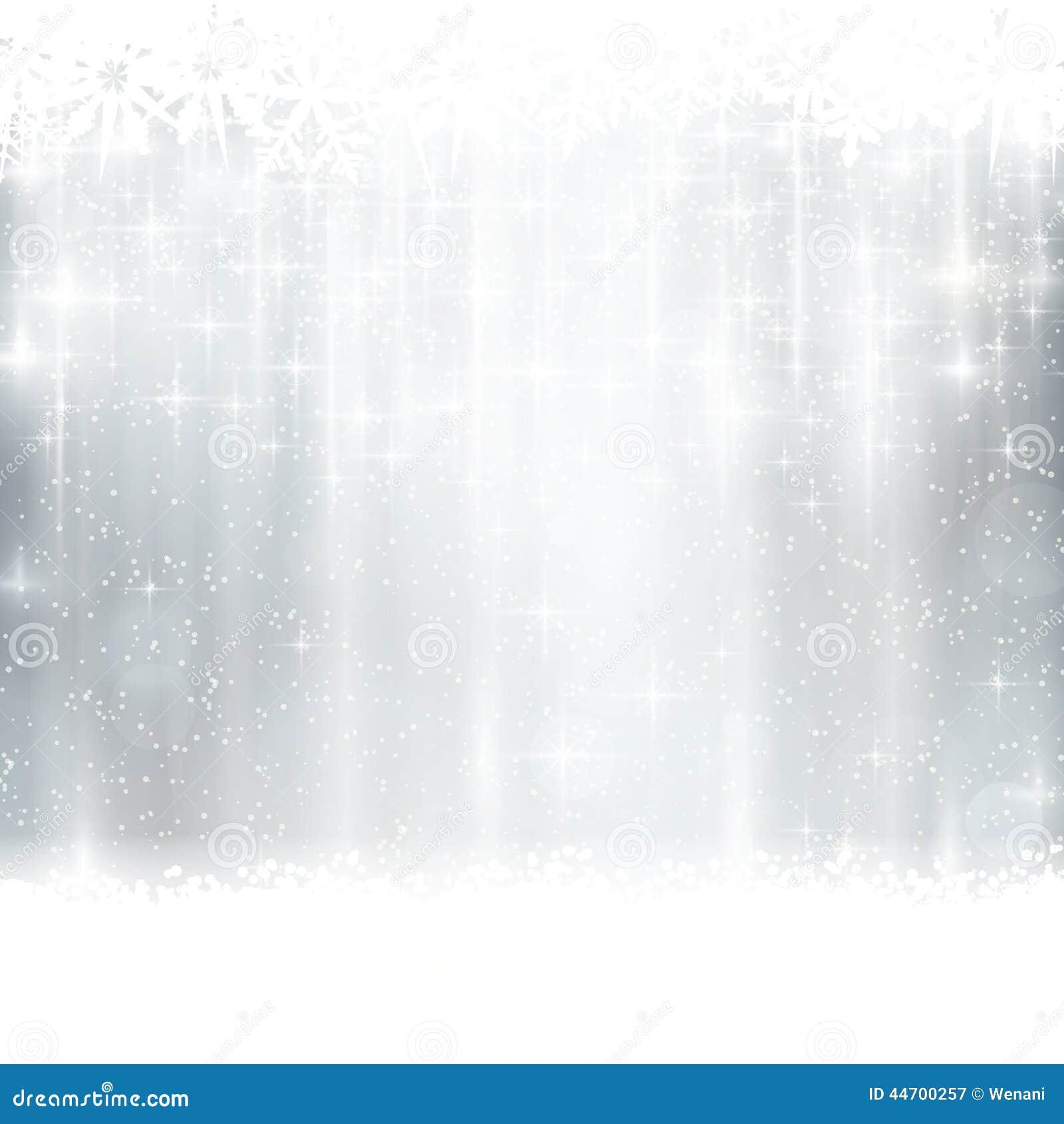 Ασημένιος χειμώνας, υπόβαθρο Χριστουγέννων με τα ελαφριά αποτελέσματα