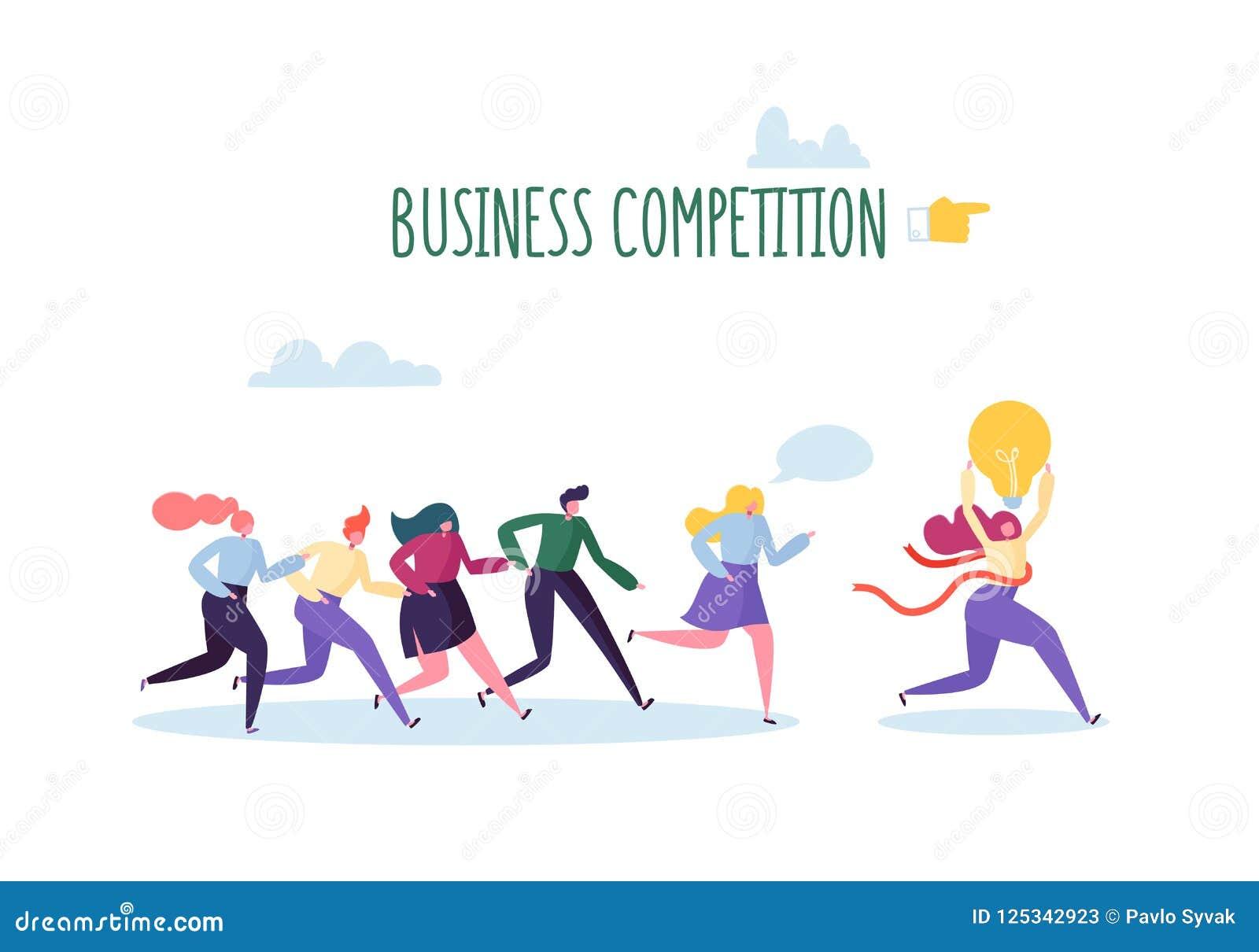 Ασιάτης πίσω από το σφυρί έννοιας ανταγωνισμού επιχειρησιακών επιχειρηματιών υπόκλισης που κρατά δύο Επίπεδοι χαρακτήρες ανθρώπων