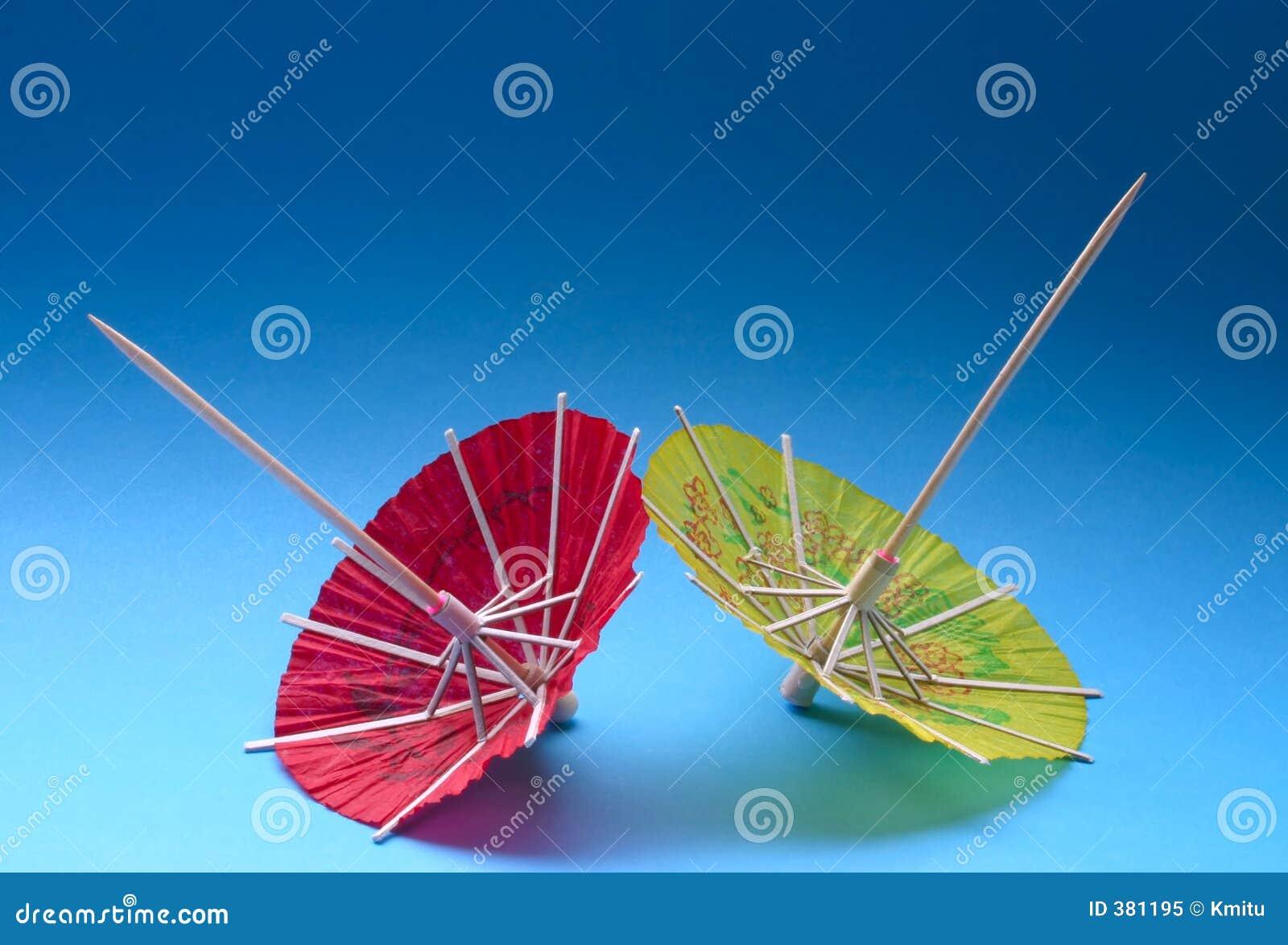ασιατικές ομπρέλες κοκτέιλ