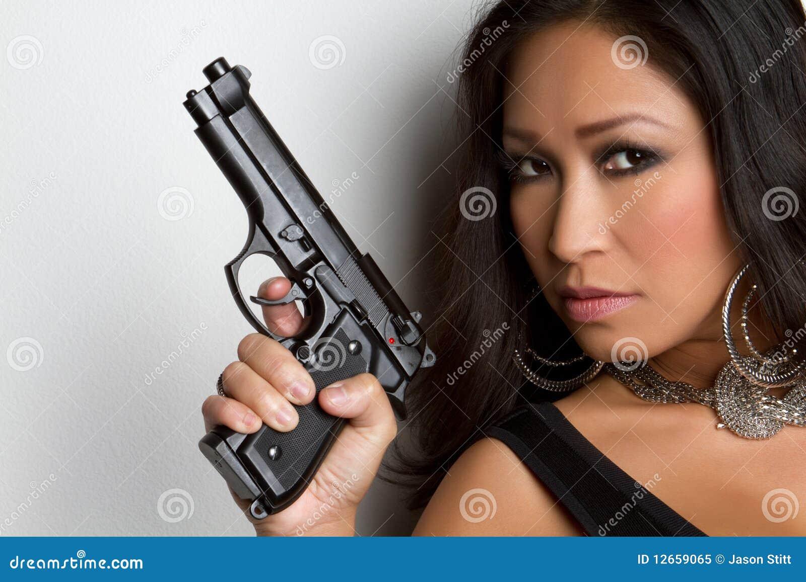 ασιατική γυναίκα πυροβό&lambd
