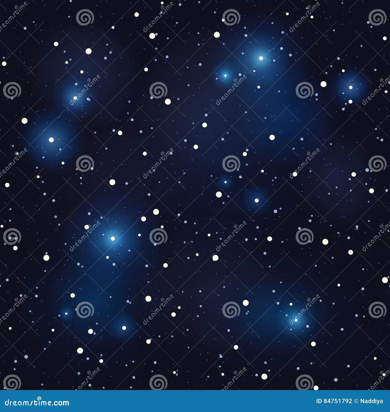 αστέρια νυχτερινού ουρα&nu άνευ ραφής διάνυσμα ανασκό