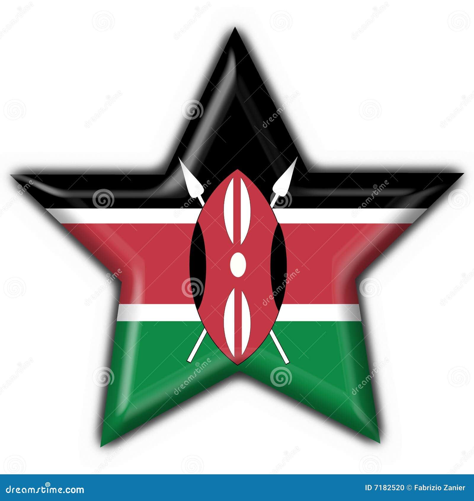 αστέρι μορφής της Κένυας σημαιών κουμπιών