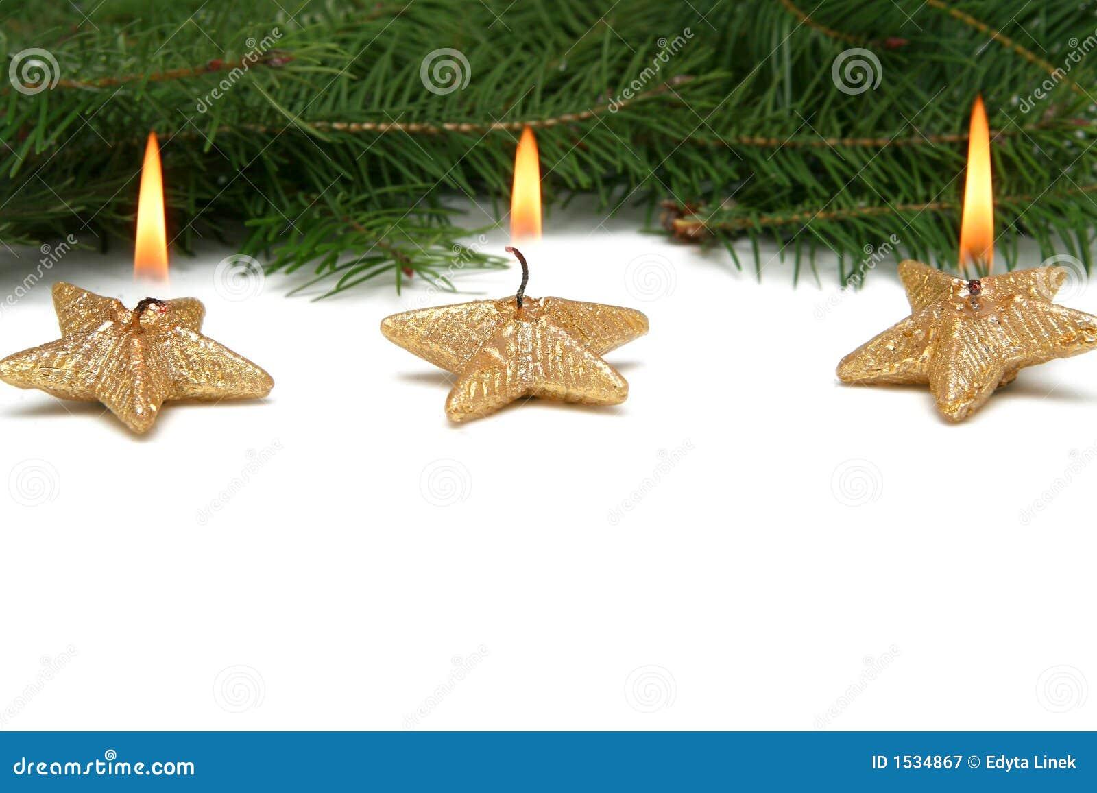 αστέρι Χριστουγέννων κεριών