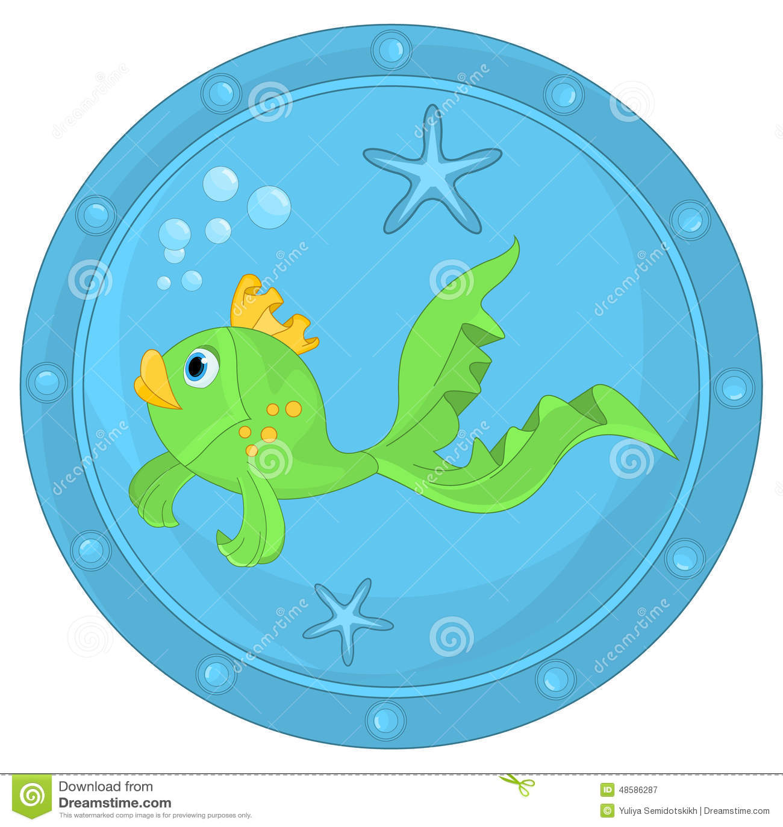 Αστεία ψάρια στην παραφωτίδα