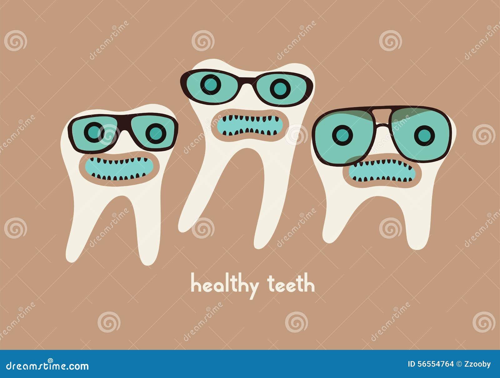 Download Αστείοι χαρακτήρες κινουμένων σχεδίων δοντιών στα γυαλιά επίσης Corel σύρετε το διάνυσμα απεικόνισης Διανυσματική απεικόνιση - εικονογραφία από ζούλιγμα, κατσίκια: 56554764