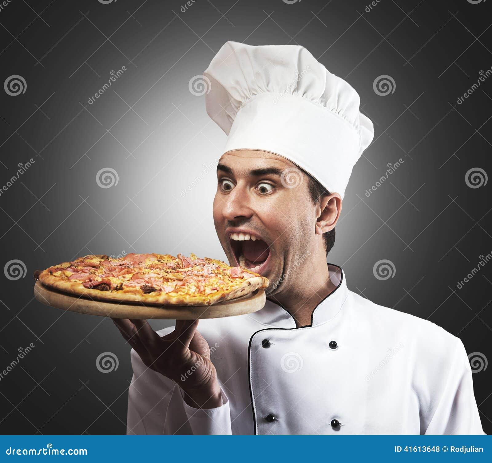 Αστείος αρχιμάγειρας πιτσών