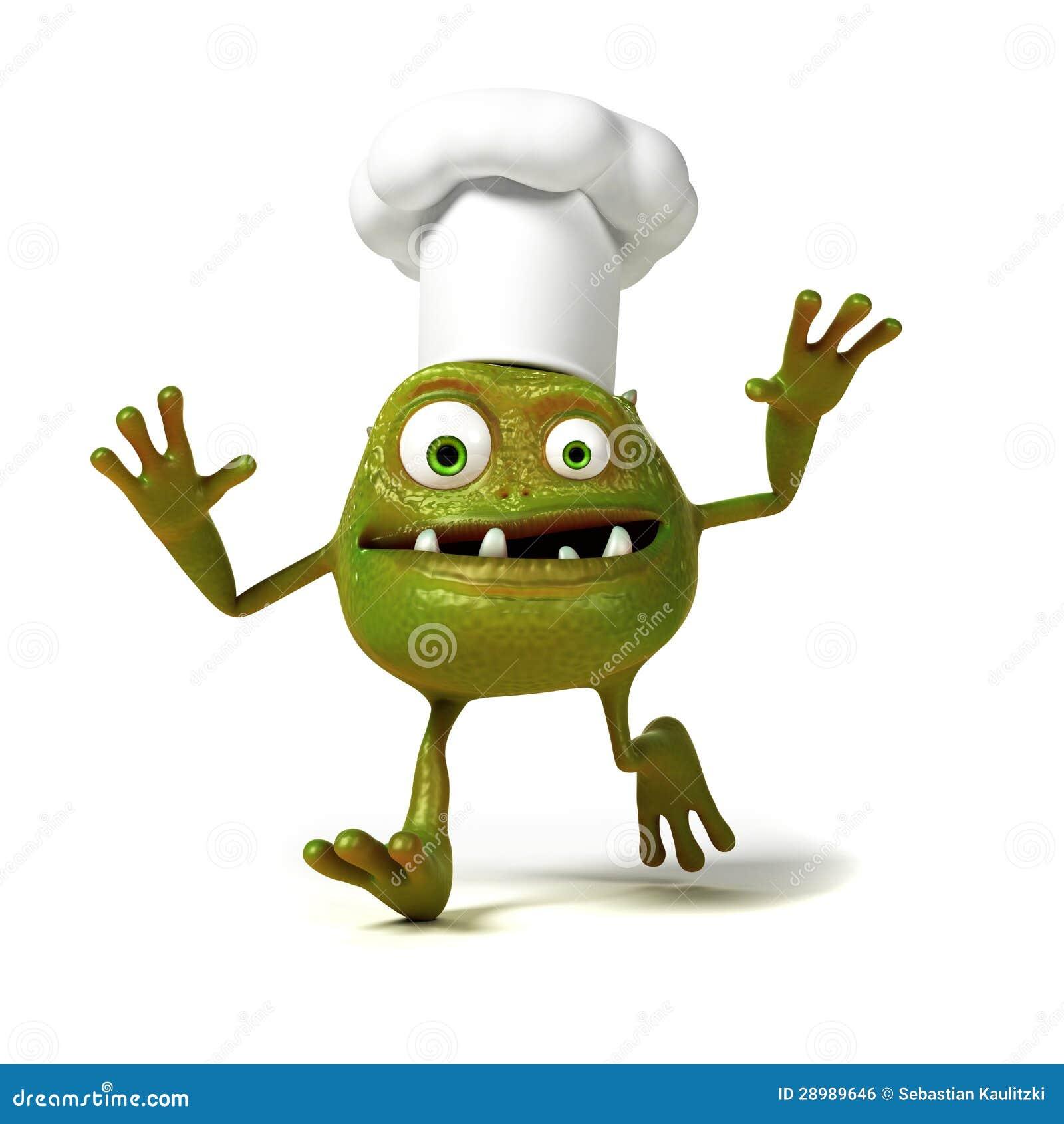Αστείος χαρακτήρας του Toon βακτηριδίων