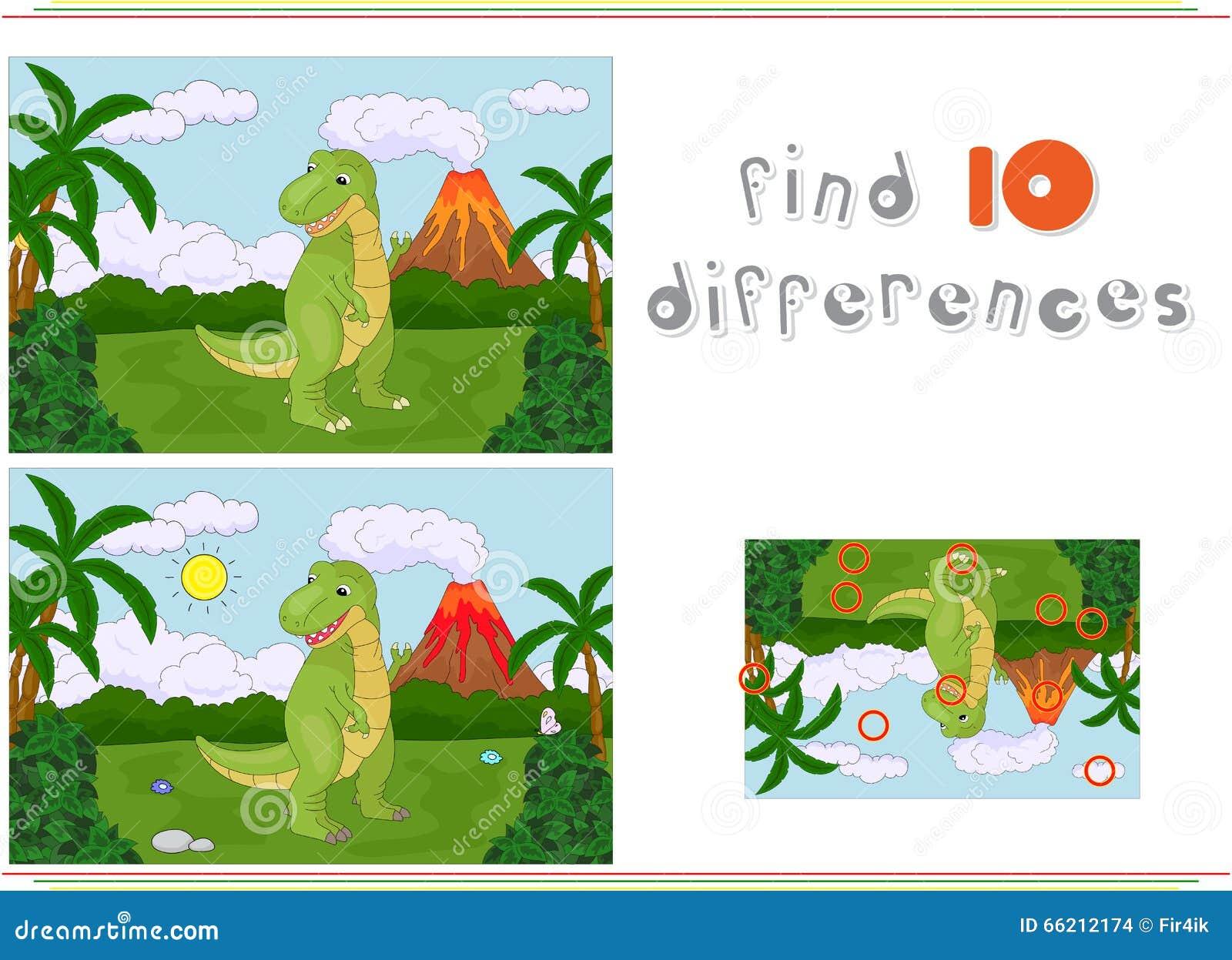 Αστείος χαριτωμένος τυραννόσαυρος στο υπόβαθρο ενός προϊστορικού natu