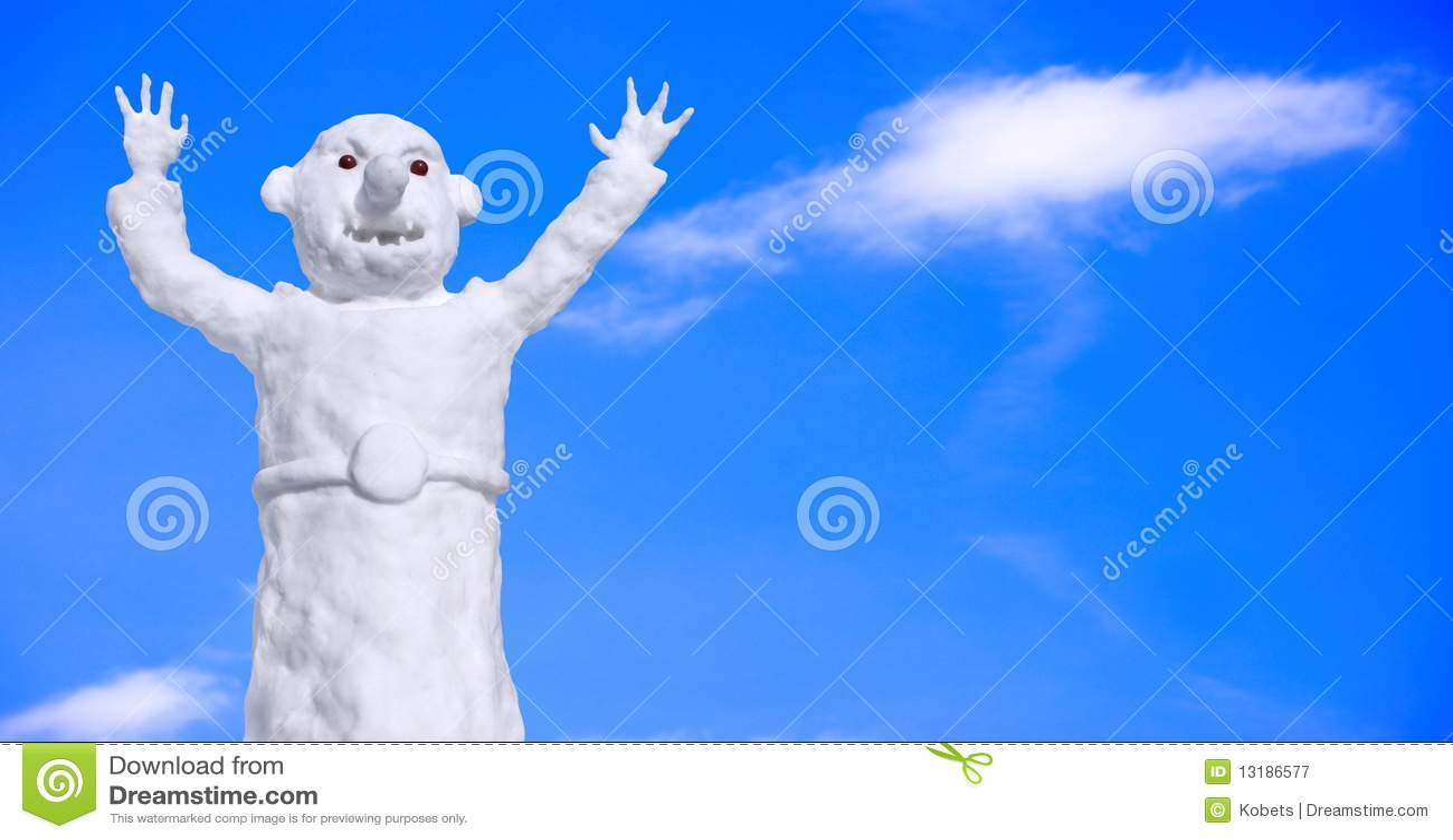 αστείος χιονάνθρωπος