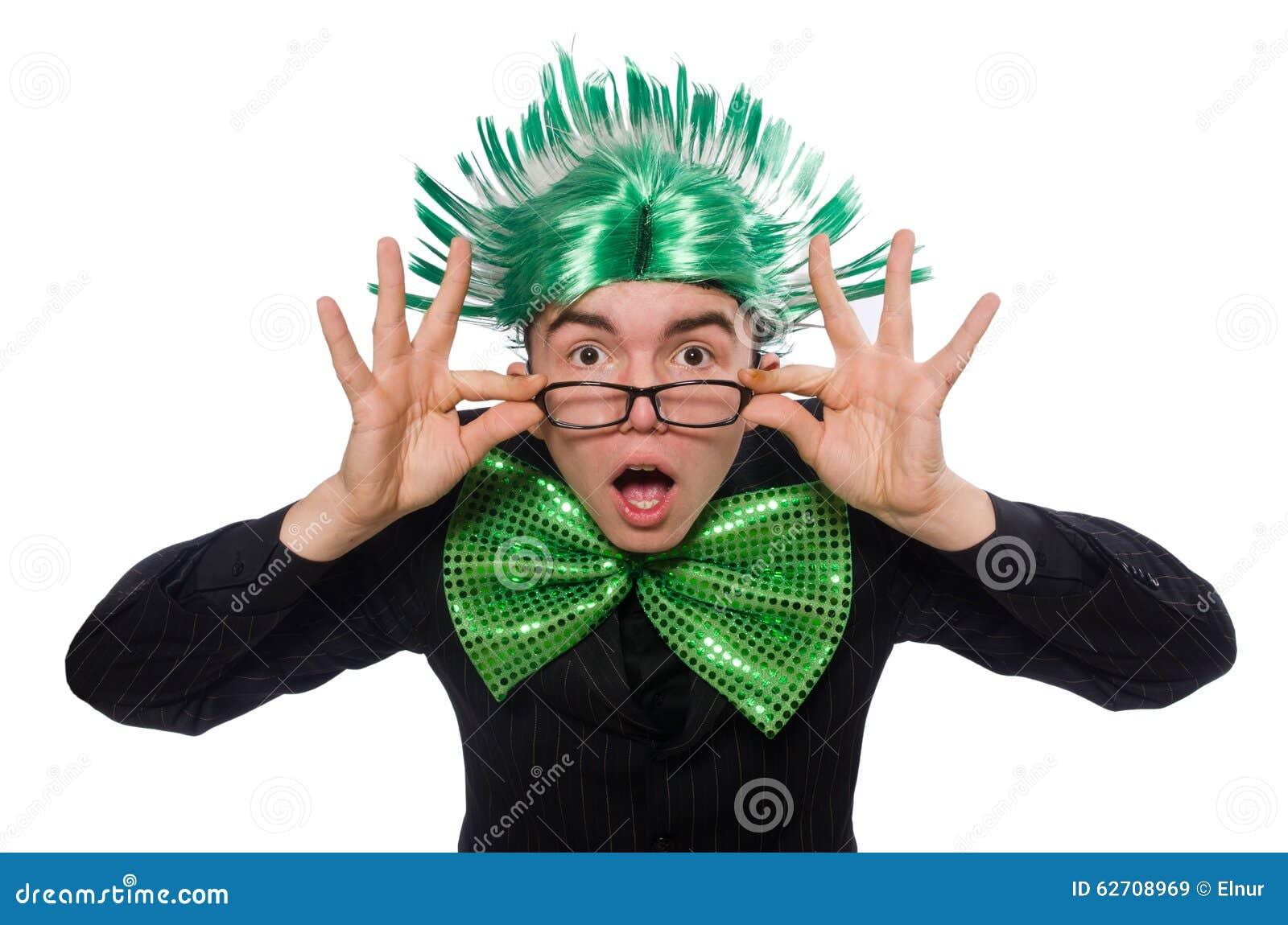 Αστείο άτομο με το mohawk hairstyle