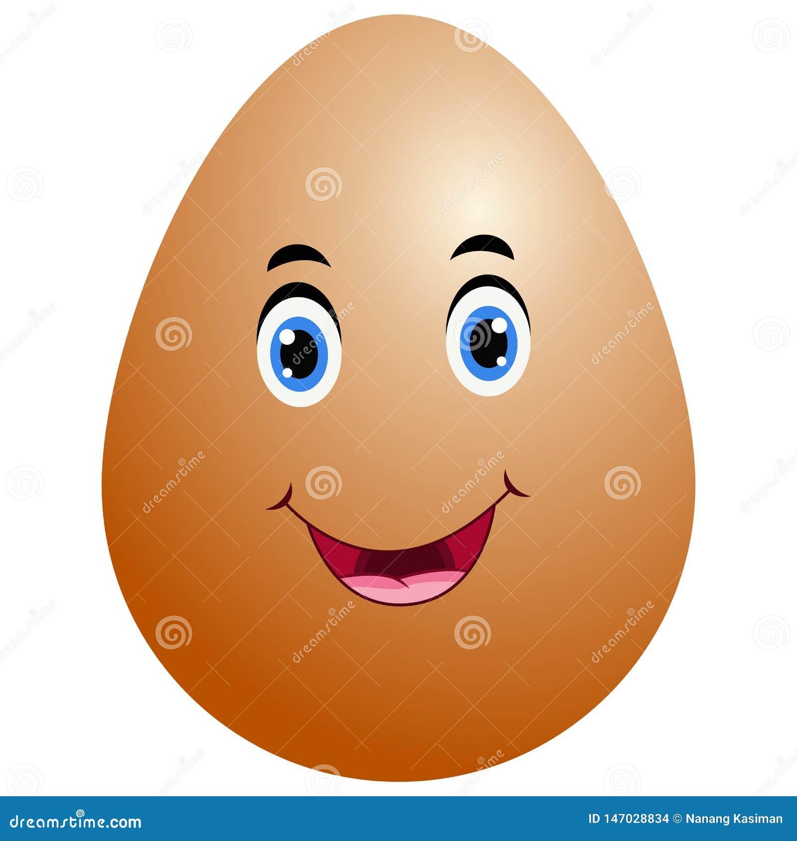 Αστείο εικονίδιο emoji αυγών Πάσχας κινούμενων σχεδίων
