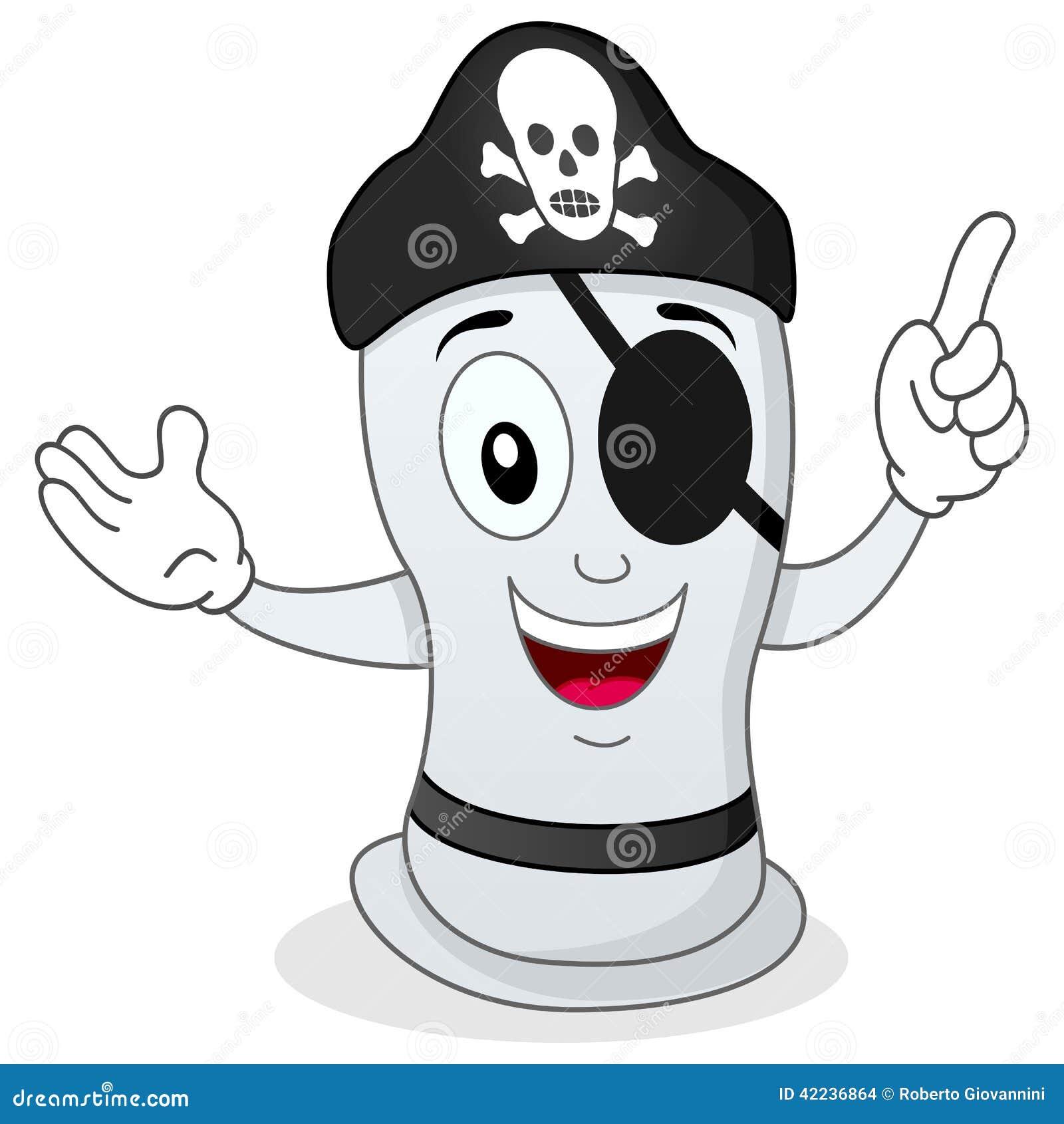 Αστείο προφυλακτικό πειρατών με το μπάλωμα ματιών