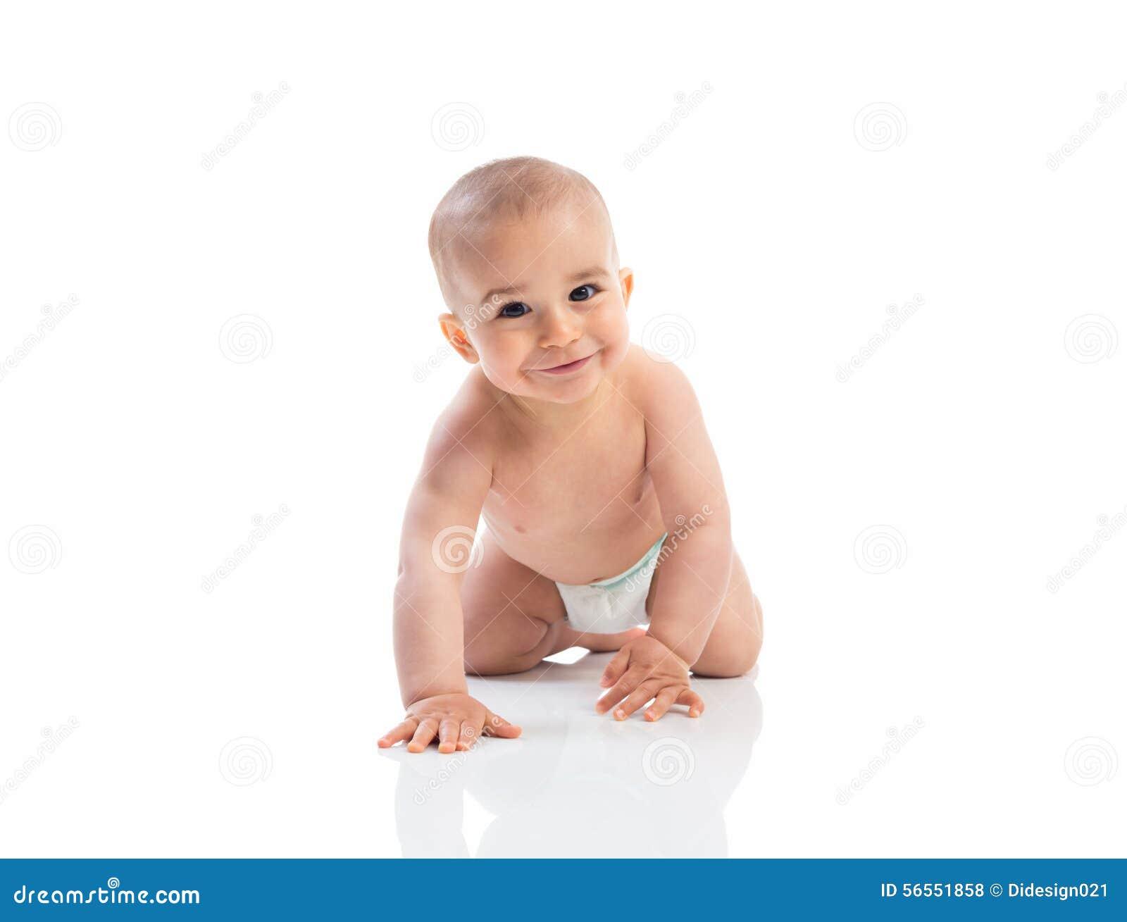 Download Αστείο σύρσιμο μωρών χαμόγελου Στοκ Εικόνες - εικόνα από άσκηση, χέρι: 56551858