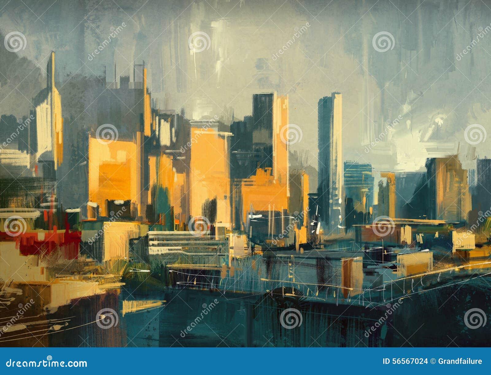 Download Αστικοί ουρανοξύστες στο ηλιοβασίλεμα Απεικόνιση αποθεμάτων - εικονογραφία από αρχιτεκτονικής, στέγη: 56567024