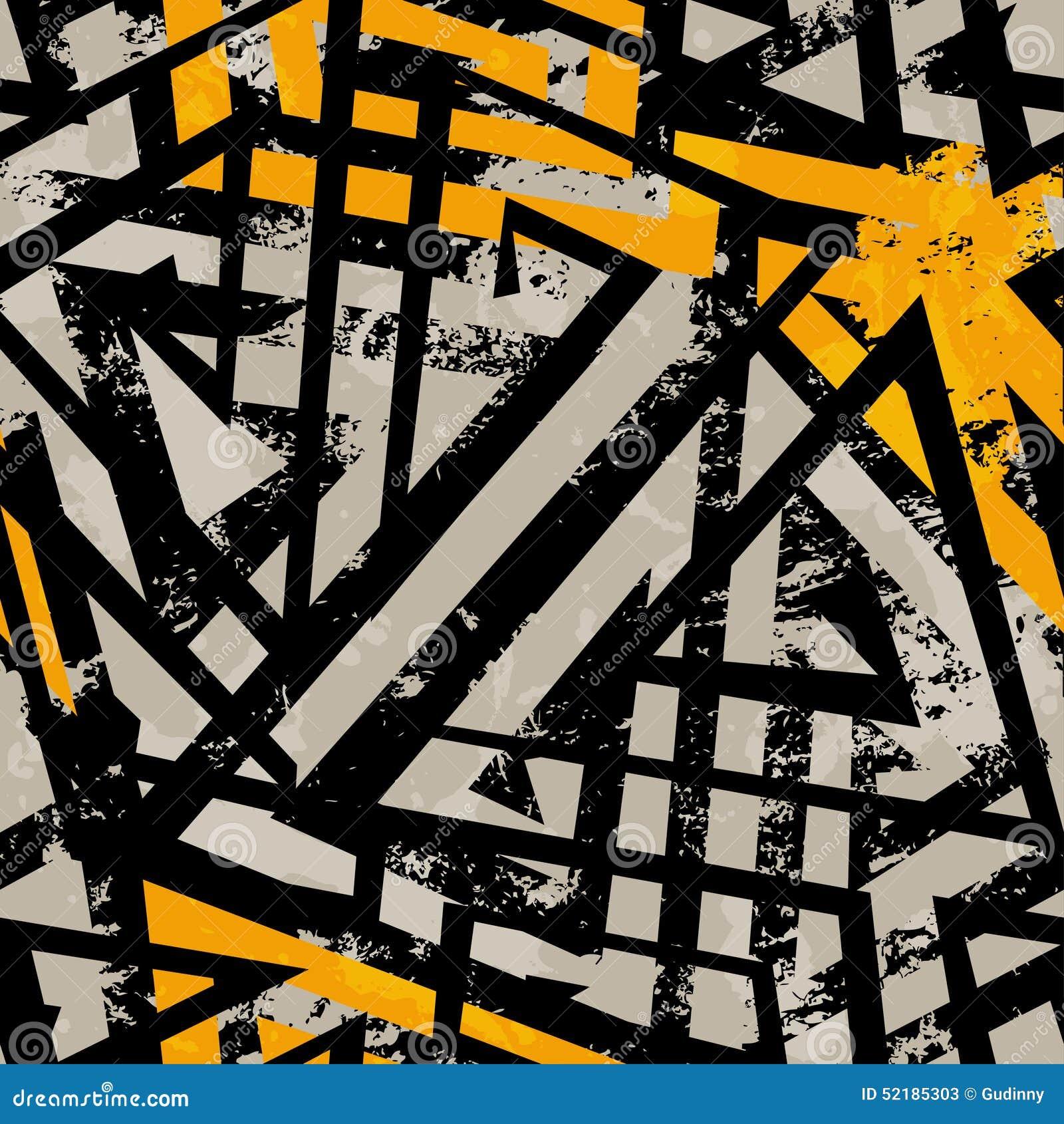 Αστικό γεωμετρικό άνευ ραφής σχέδιο με την επίδραση grunge