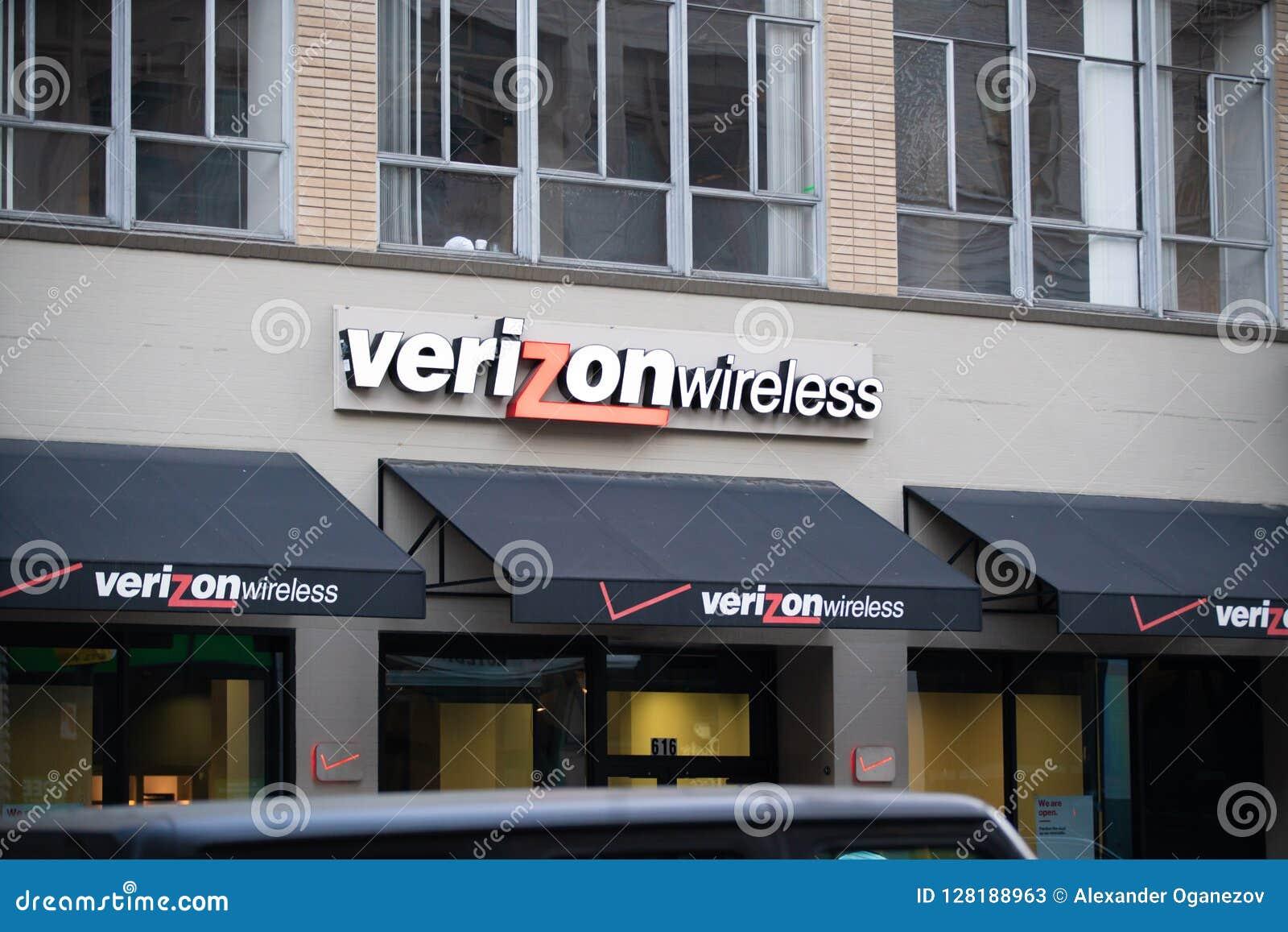 Ασύρματο κατάστημα Verizon στο στο κέντρο της πόλης Πόρτλαντ