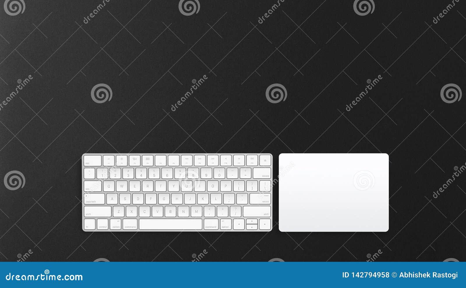 Ασύρματο πληκτρολόγιο υπολογιστών και trackpad