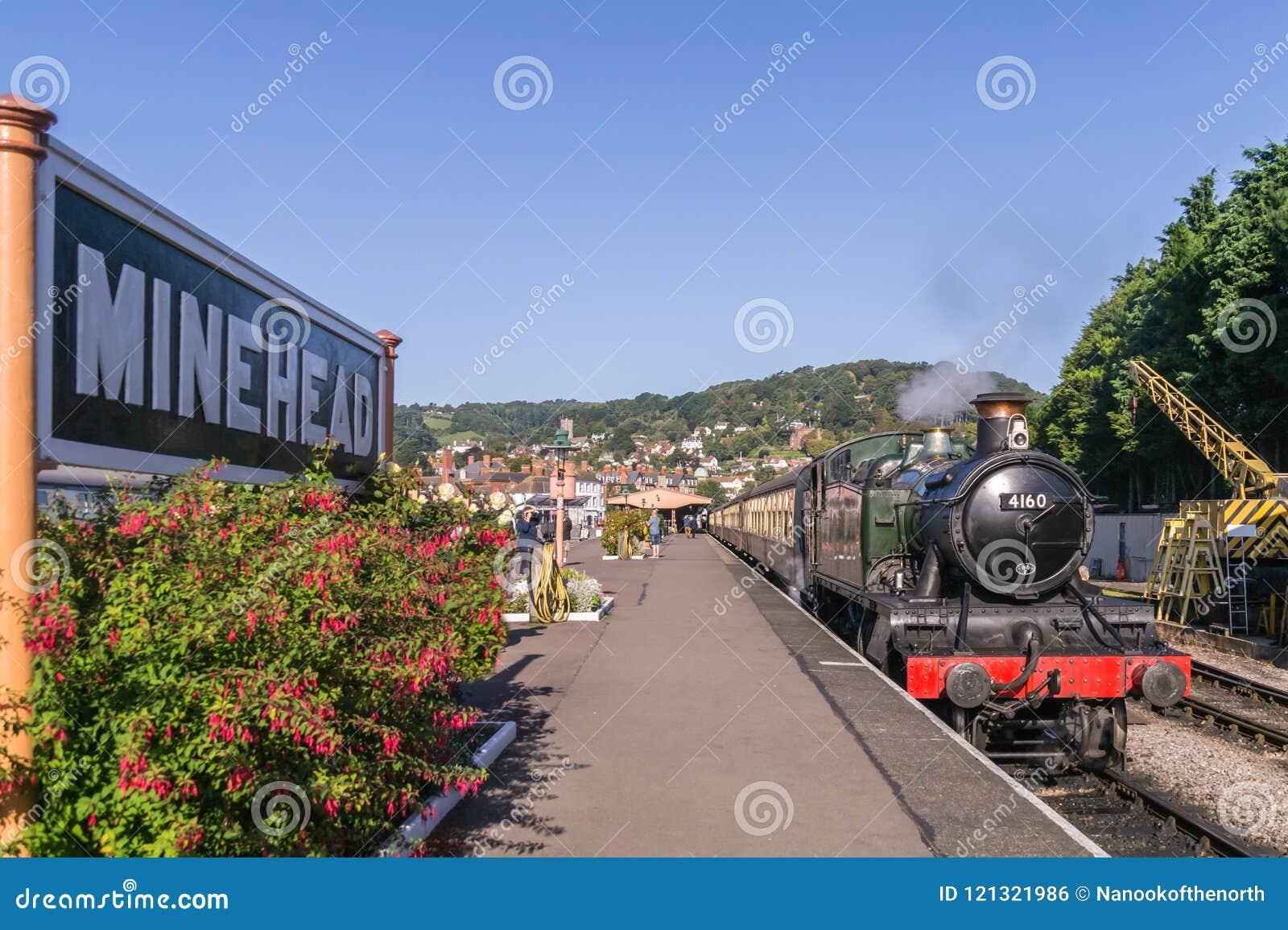 Ατμομηχανή 4160 ατμού στο σταθμό κεφαλών νάρκης, Somerset