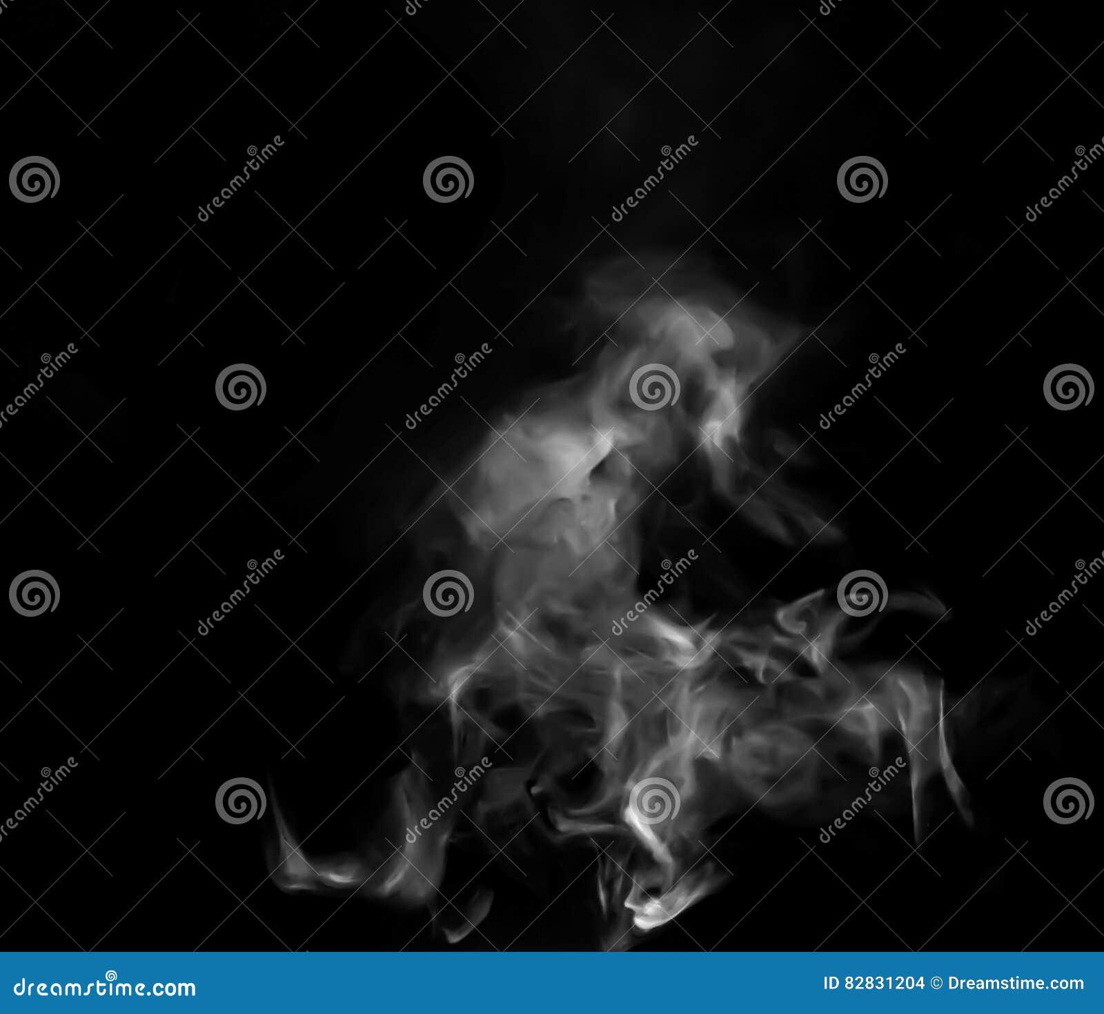 Ατμός καπνού στο μαύρο υπόβαθρο