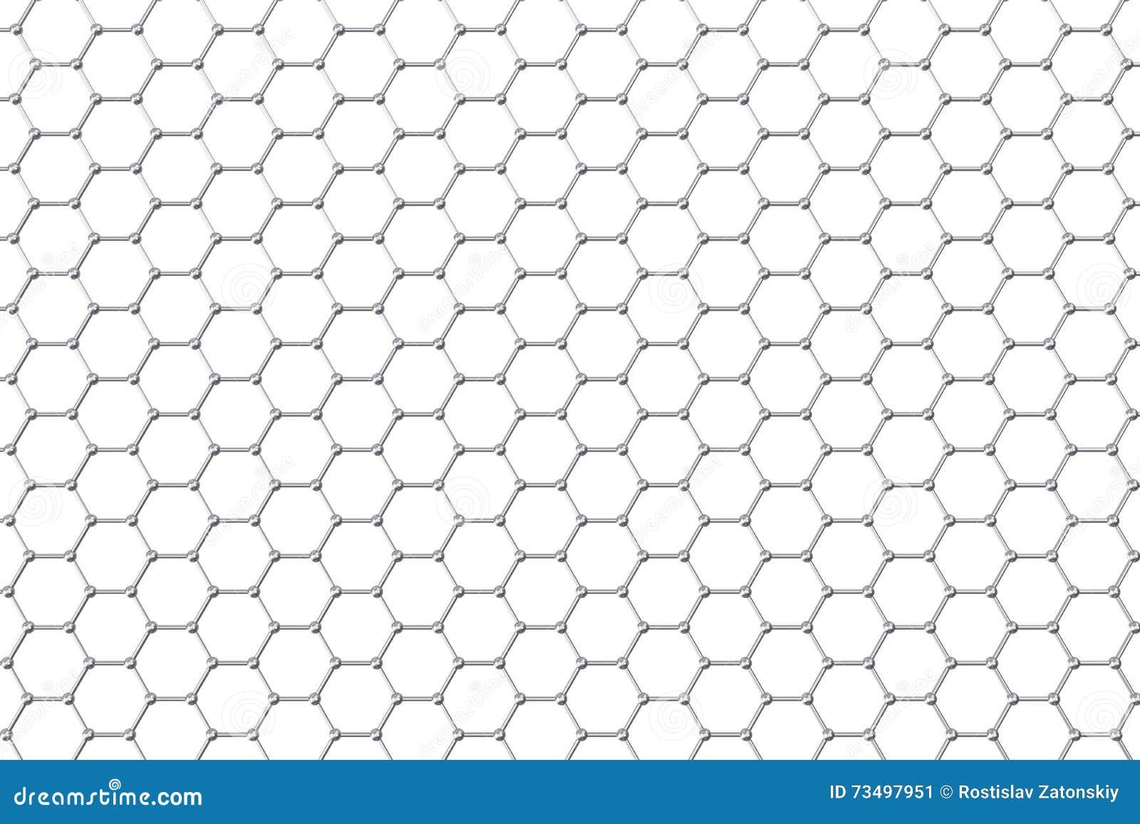 Ατομική δομή Graphene, υπόβαθρο νανοτεχνολογίας τρισδιάστατη απεικόνιση