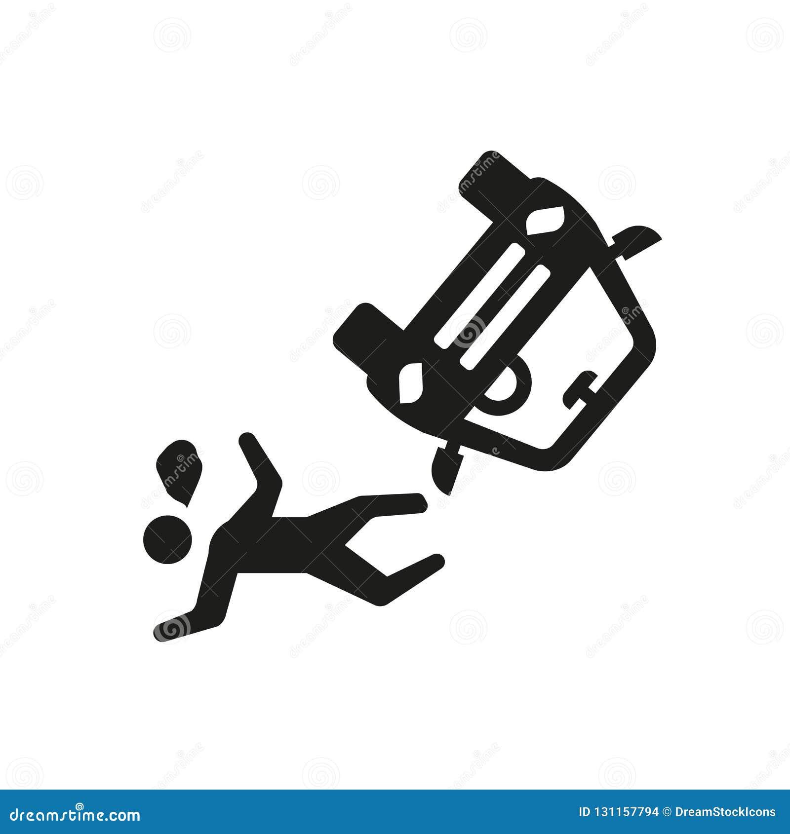 ατύχημα και εικονίδιο τραυματισμών Καθιερώνον τη μόδα ατύχημα και λογότυπο τραυματισμών ομο