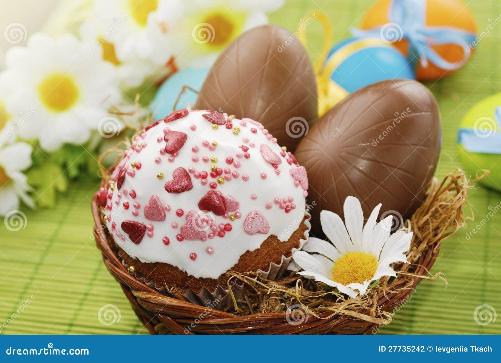 Αυγά Πάσχας κέικ και σοκολάτας Πάσχας