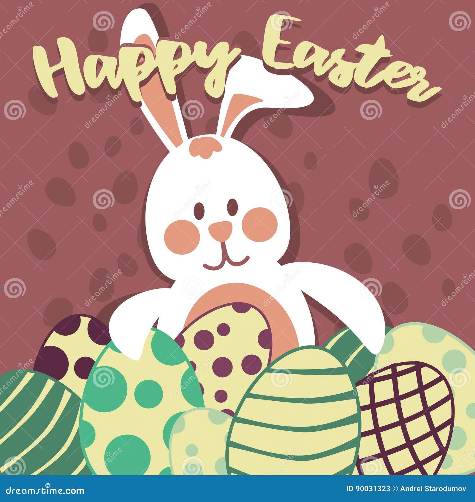 Αυγά Πάσχας και κάρτα λαγουδάκι Πάσχας