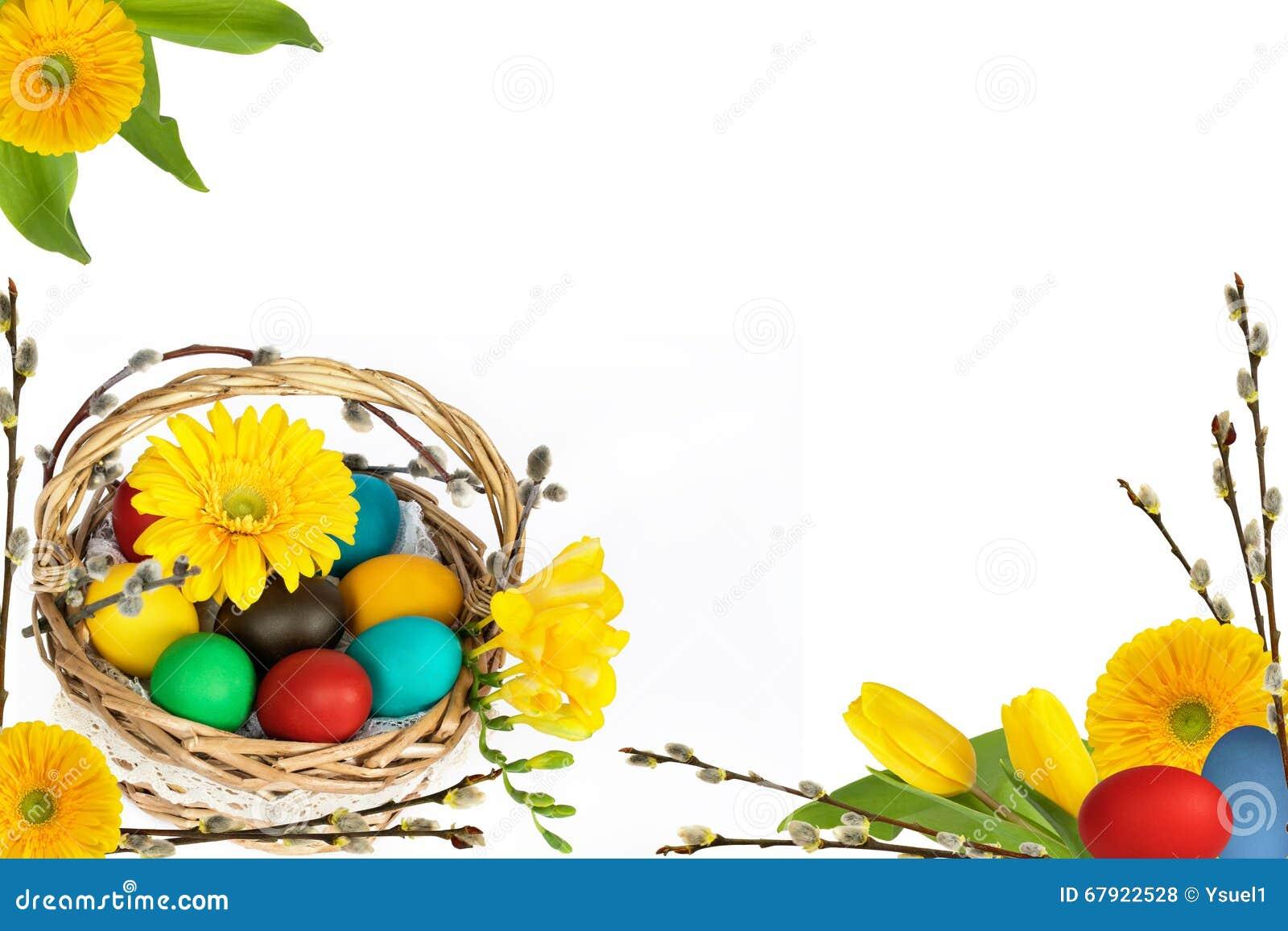 Αυγά Πάσχας με τα λουλούδια