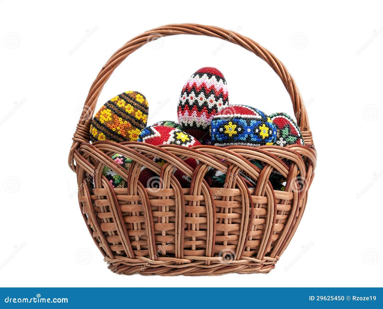 Αυγά Πάσχας σε ένα καλάθι