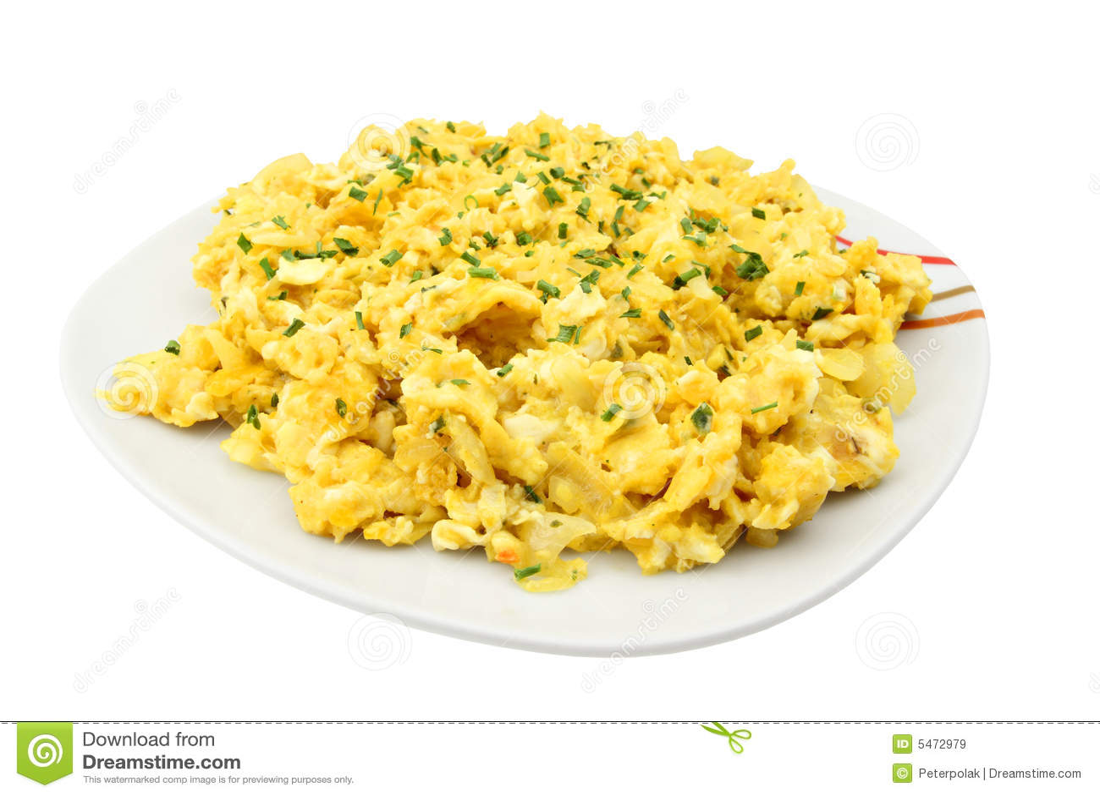 αυγά φρέσκων κρεμμυδιών που ανακατώνονται