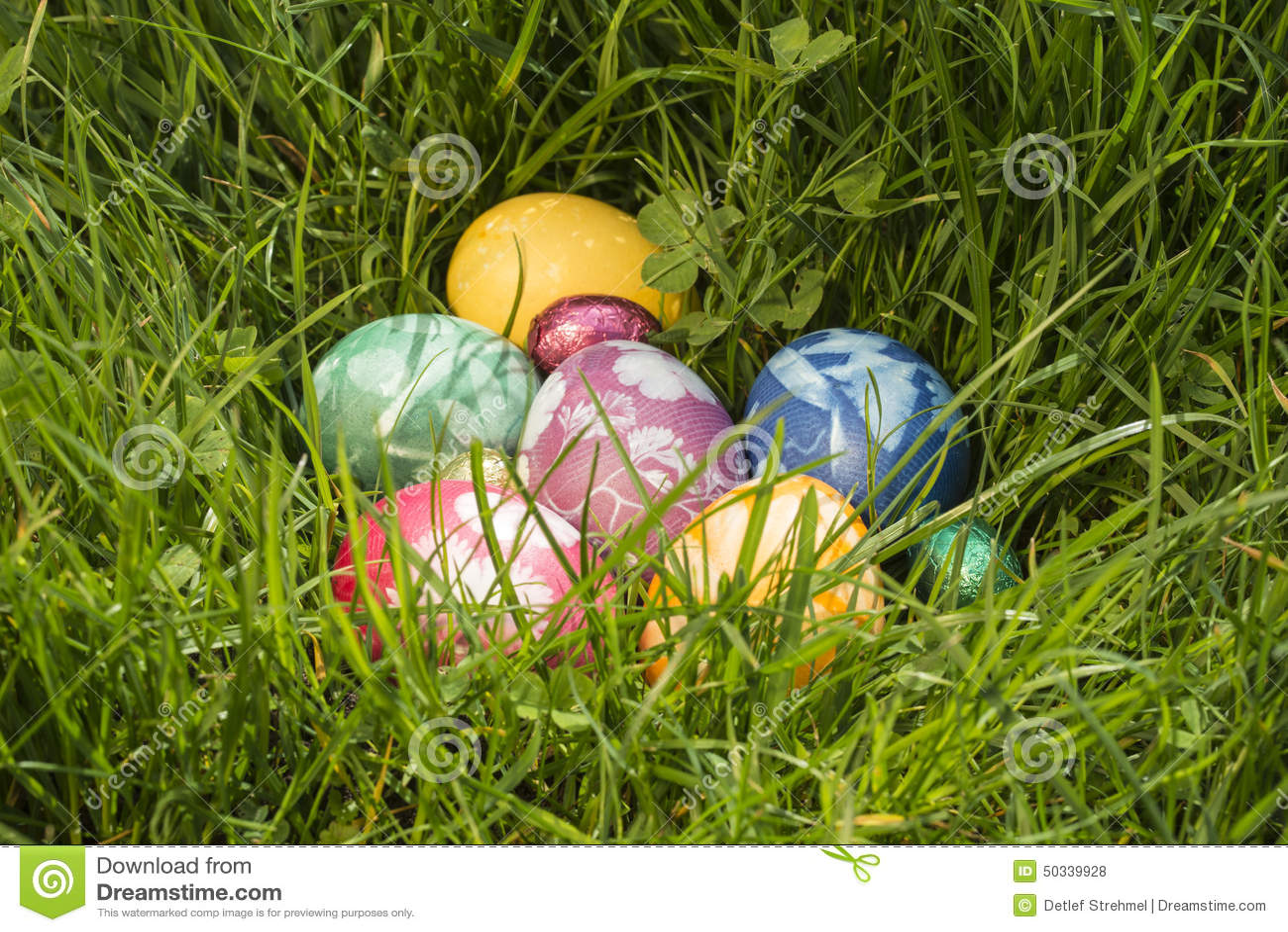Αυγό Πάσχας στη βαθιά χλόη