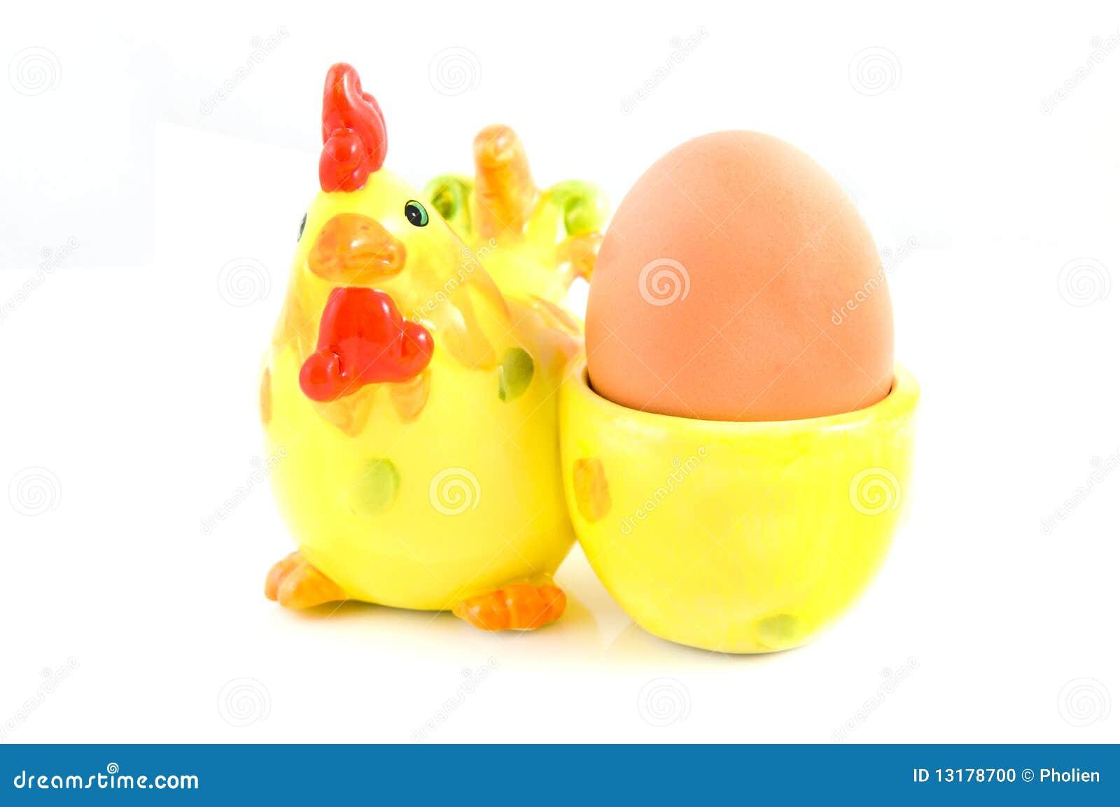 αυγό φλυτζανιών κοτόπου&lamb