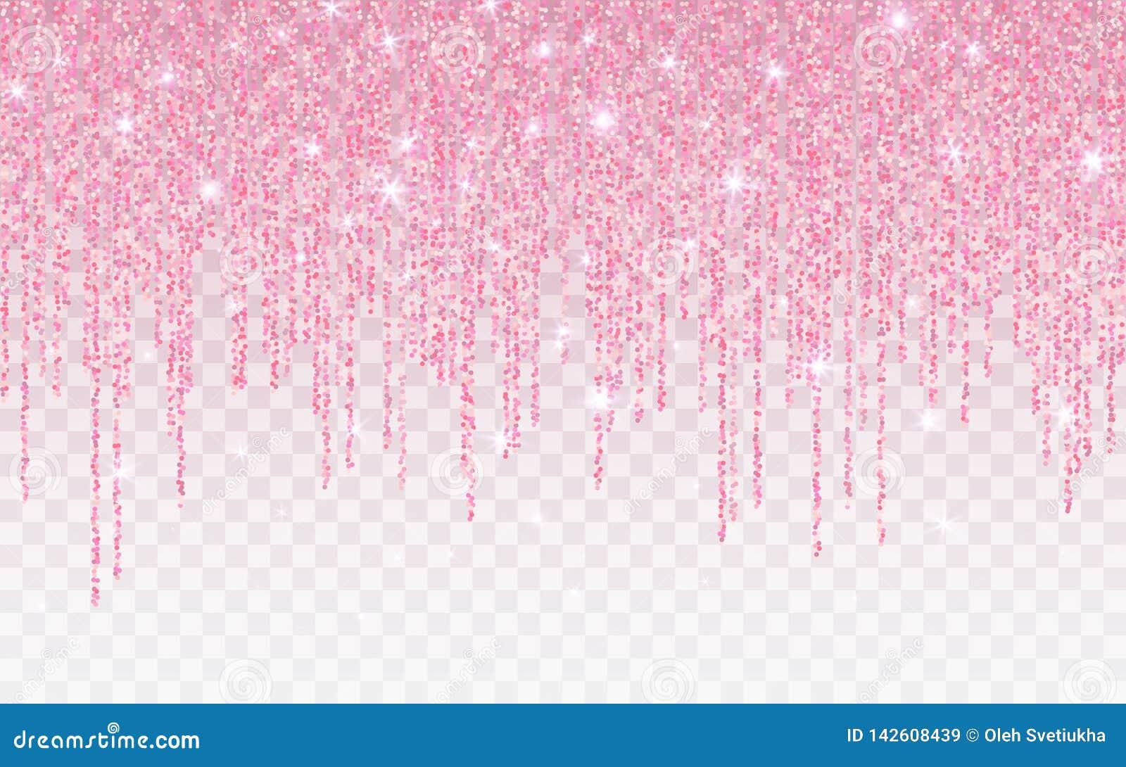 Το ροζ ακτινοβολεί σπινθήρισμα σε ένα διαφανές υπόβαθρο Αυξήθηκε χρυσό δονούμενο υπόβαθρο με αστράφτει φω τα r