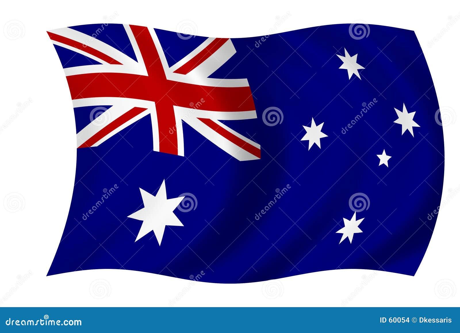Download αυστραλιανή σημαία απεικόνιση αποθεμάτων. εικονογραφία από σημαίες - 60054