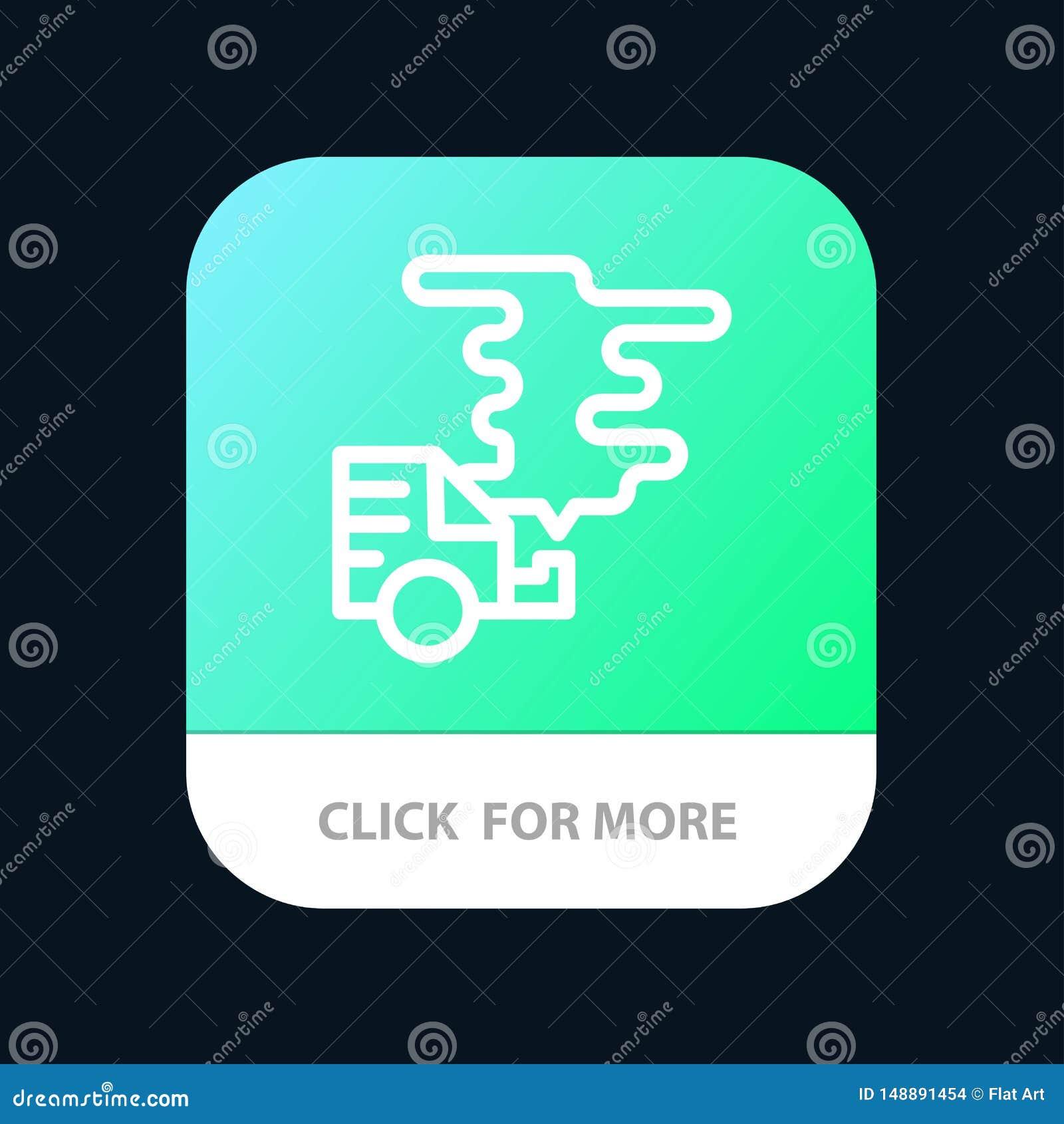 Αυτοκίνητο, αυτοκίνητο, εκπομπή, αέριο, κινητό App ρύπανσης κουμπί Έκδοση αρρενωπών και IOS γραμμών